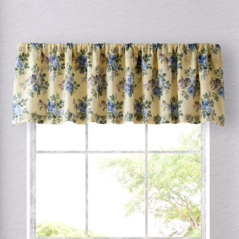 laura ashley home linley 86 curtain valance reviews. Black Bedroom Furniture Sets. Home Design Ideas