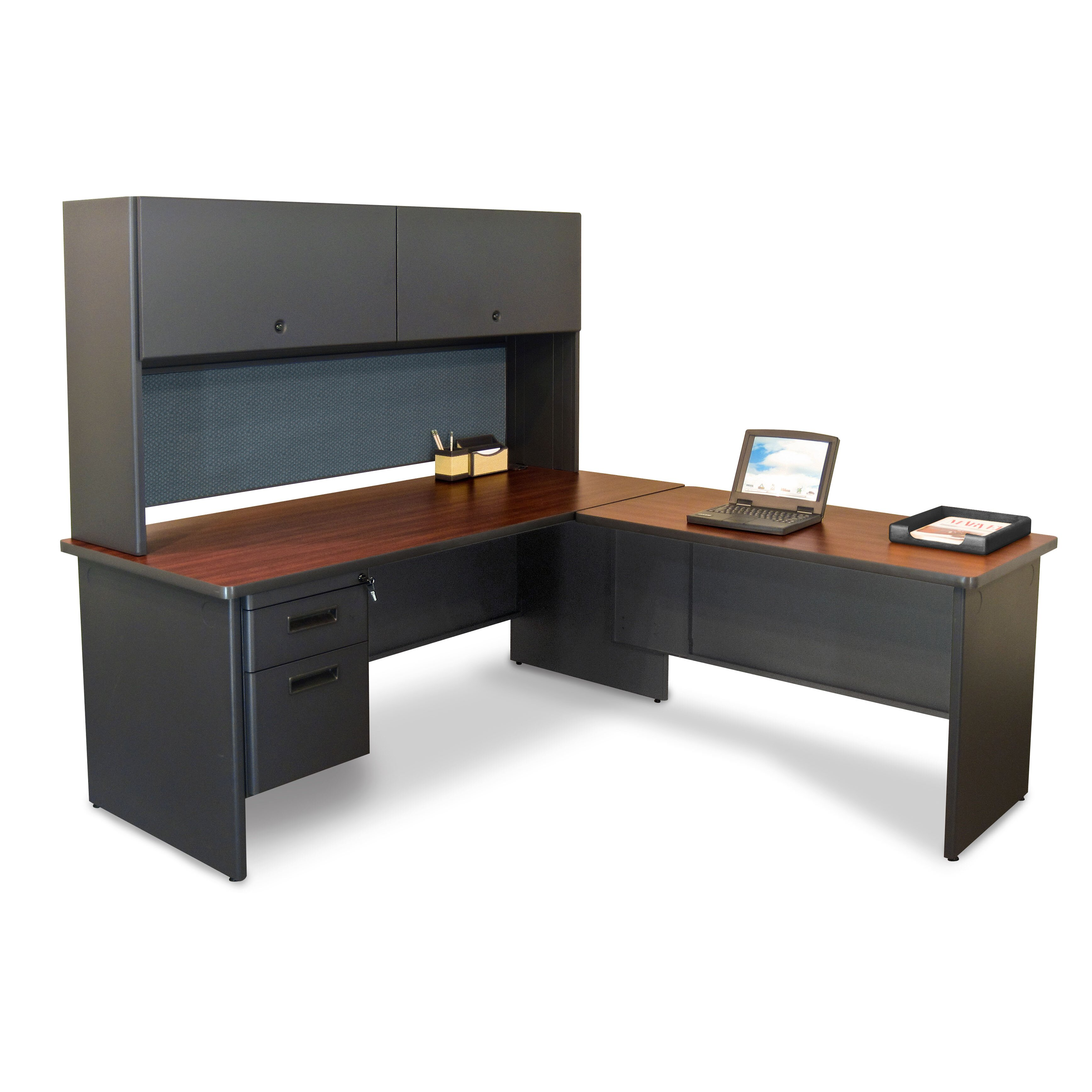 Furniture Pronto Return L Shape Executive Desk With Hutch Wayfair. Full resolution  photograph, nominally Width 3472 Height 3472 pixels, photograph with #967335.