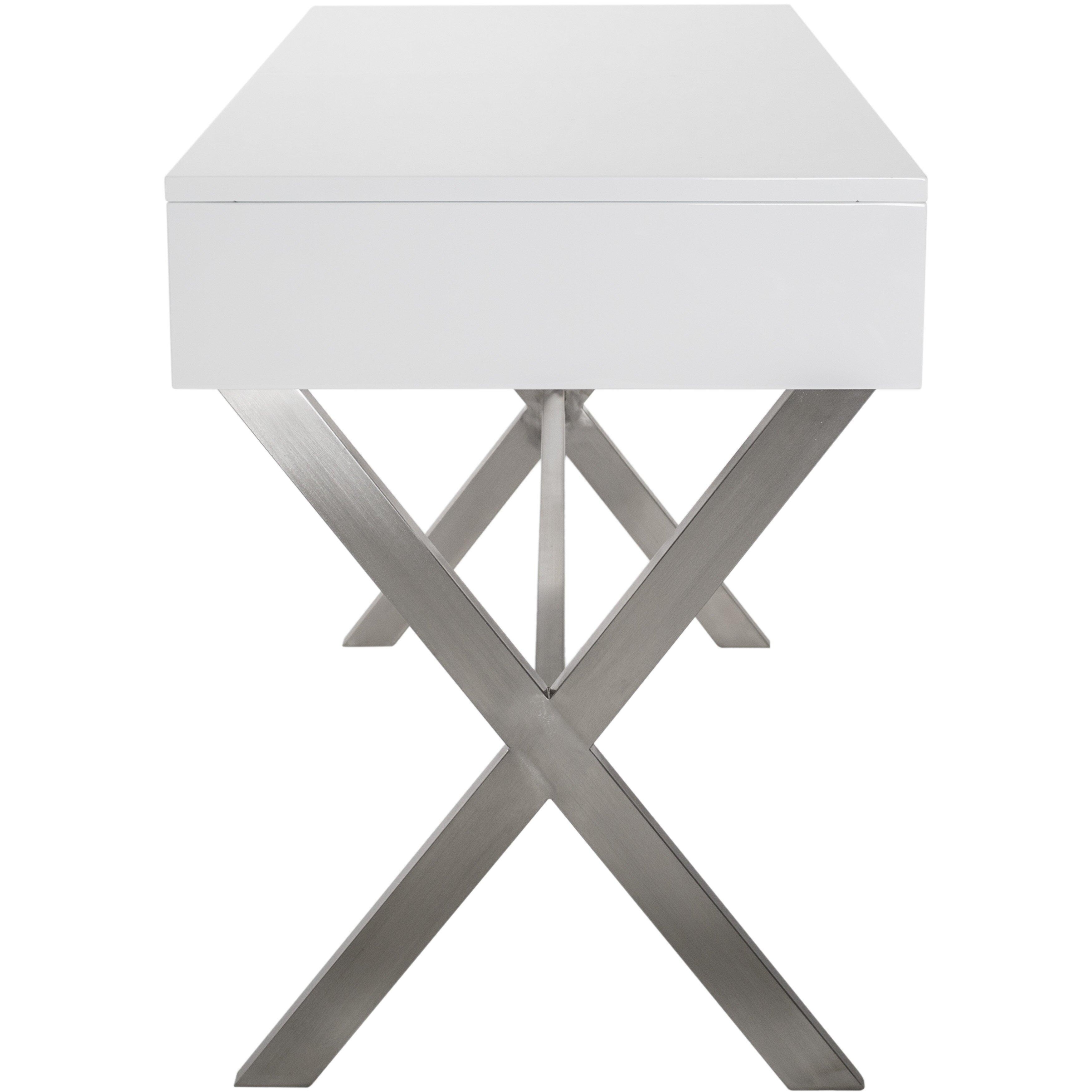 matrix porsha desk vanity set with mirror - Ensemble Vanite Armoire