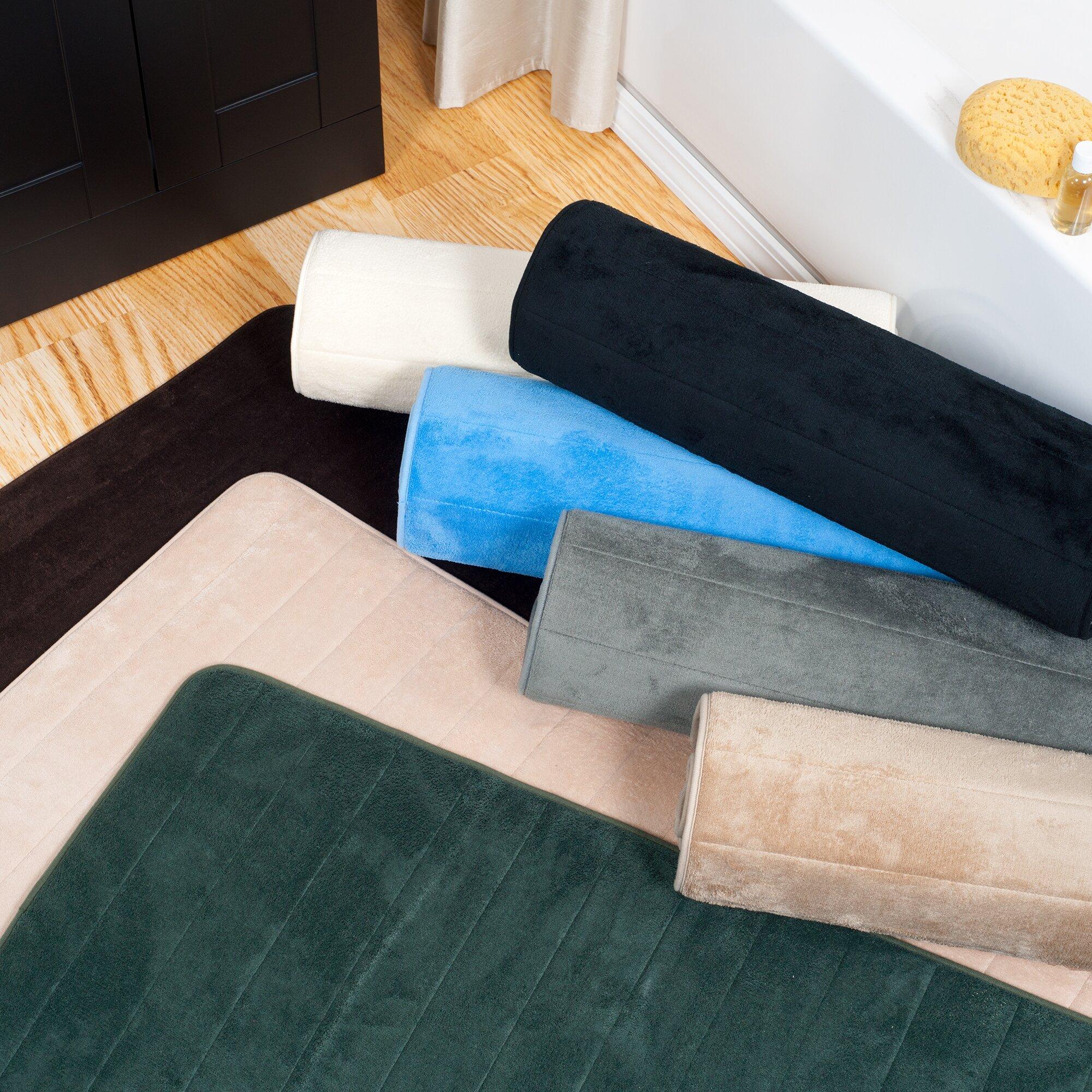 Lavish Home Extra Long Striped Memory Foam Bath Mat. Lavish Home Extra Long Striped Memory Foam Bath Mat   Reviews