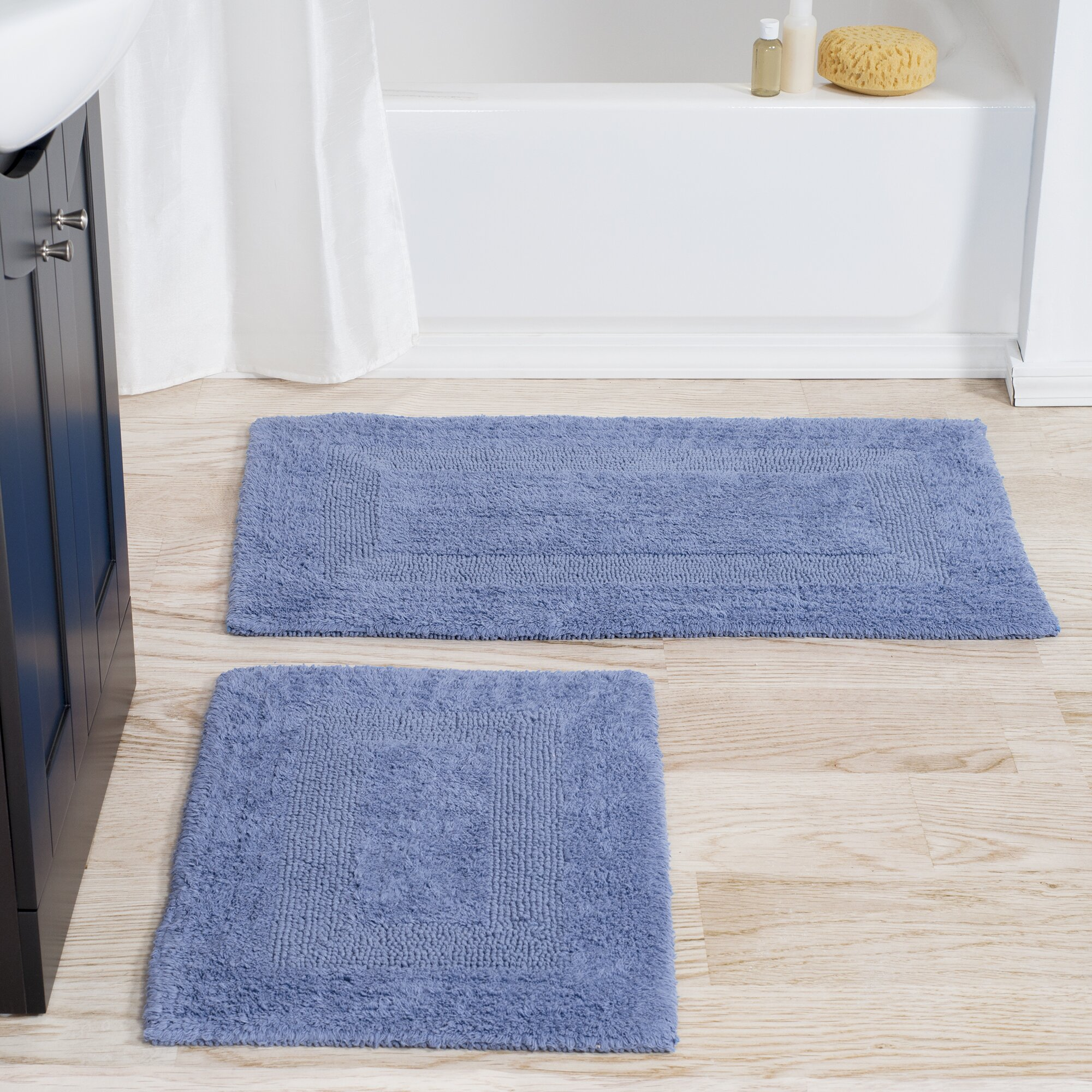 Lavish Home 2 Piece Reversible Bath Rug Set. Lavish Home 2 Piece Reversible Bath Rug Set  amp  Reviews   Wayfair