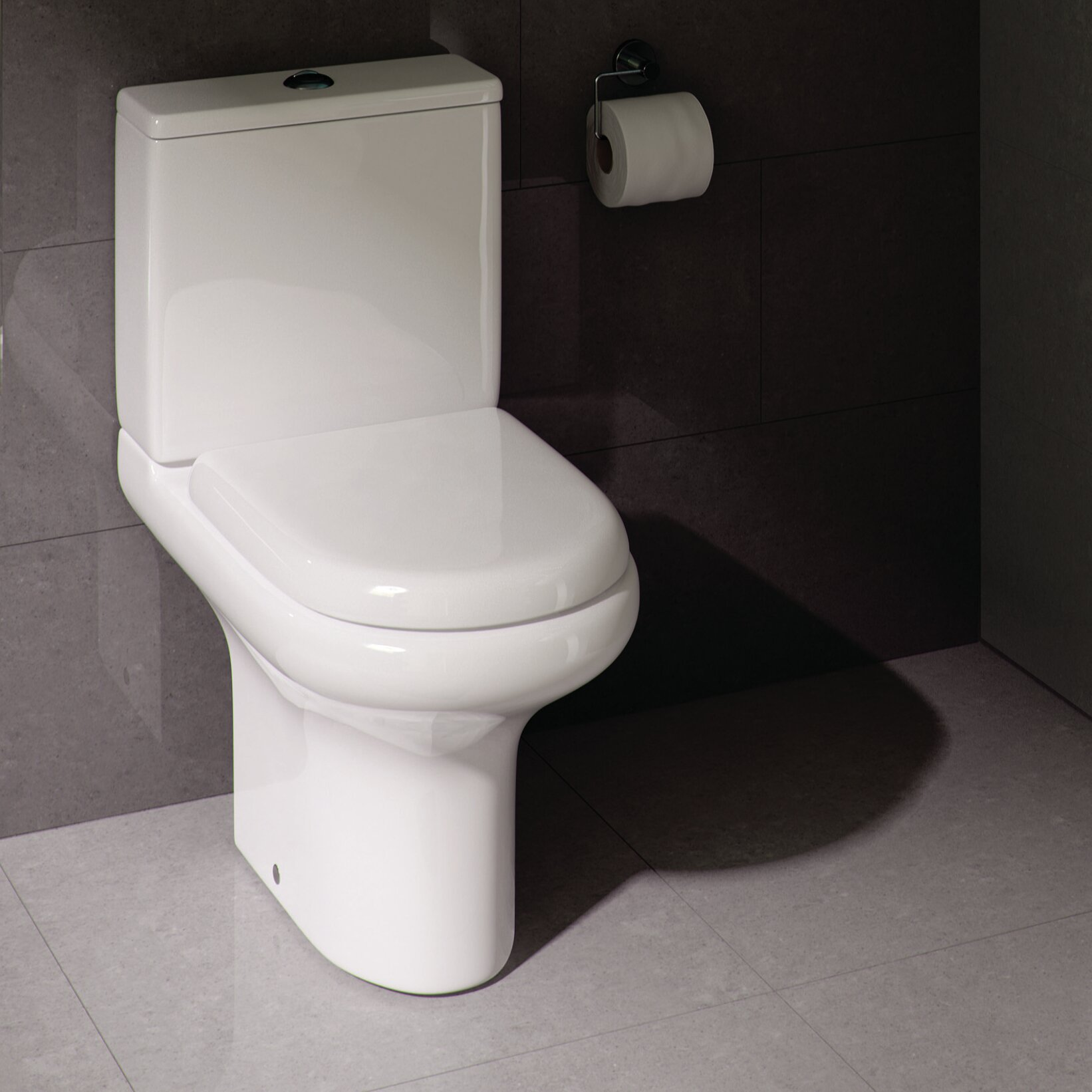 rak ceramics compact deluxe close coupled toilet with soft. Black Bedroom Furniture Sets. Home Design Ideas