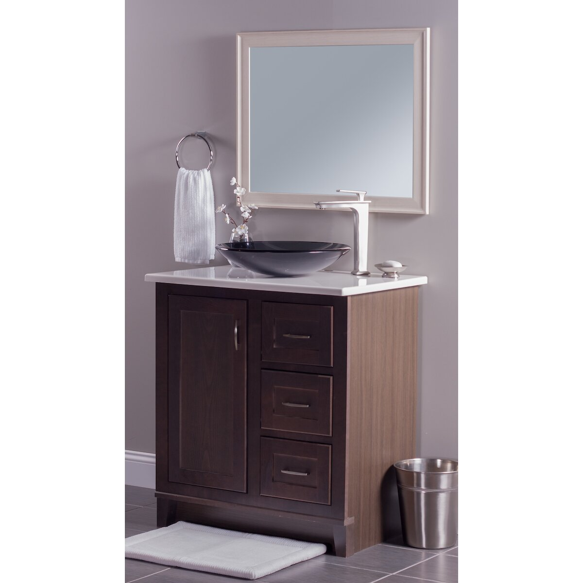 Novatto Low Profile Glass Vessel Bathroom Sink & Reviews Wayfair