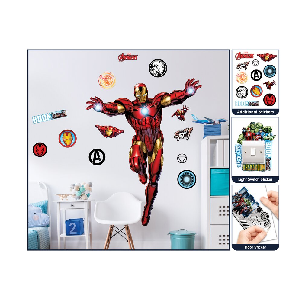 walltastic marvel iron man large character wall sticker