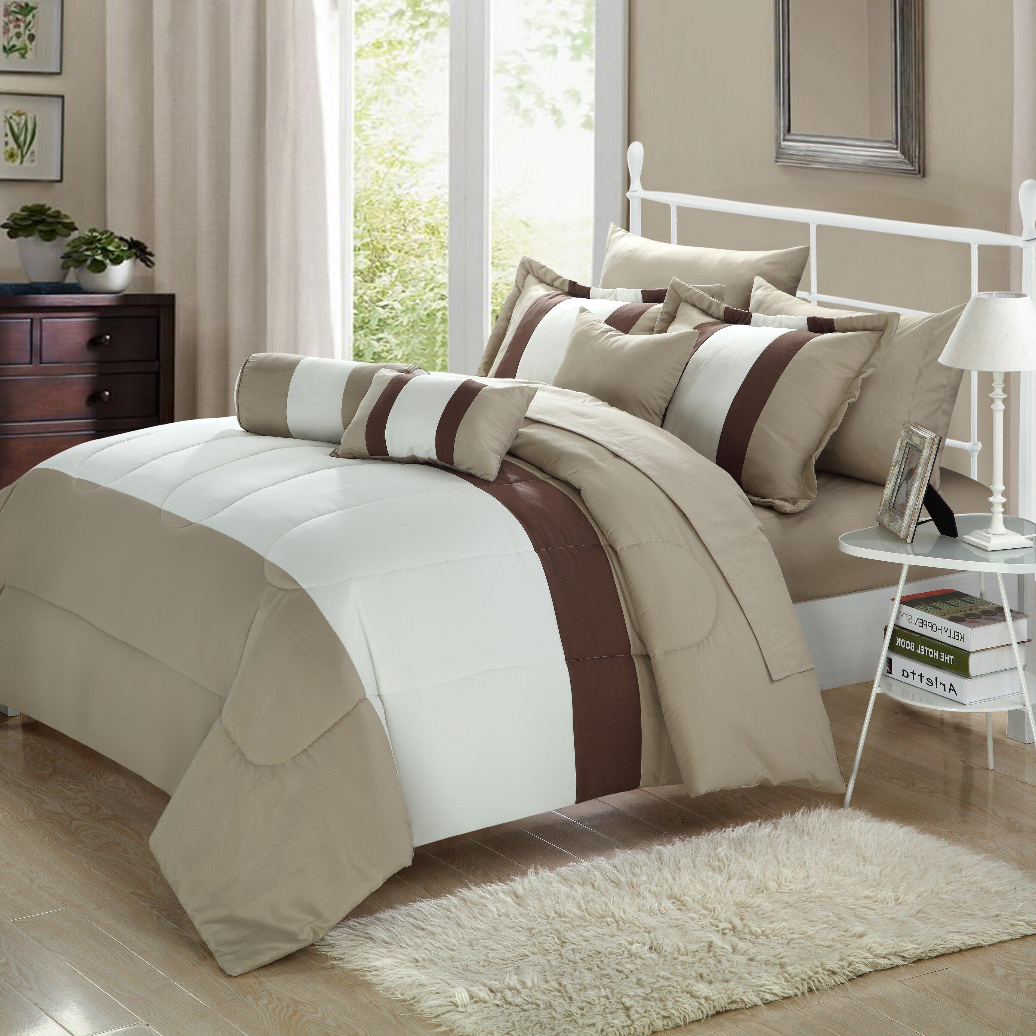 chic home serenity 10 piece comforter set & reviews | wayfair