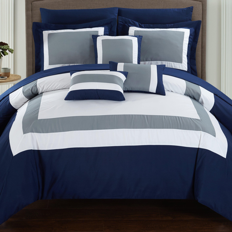 chic home duke 10 piece comforter set & reviews | wayfair