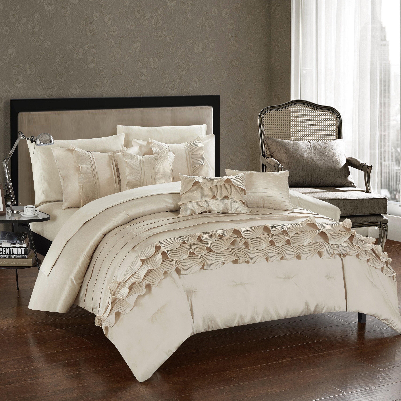 chic home denver 10 piece comforter set & reviews | wayfair