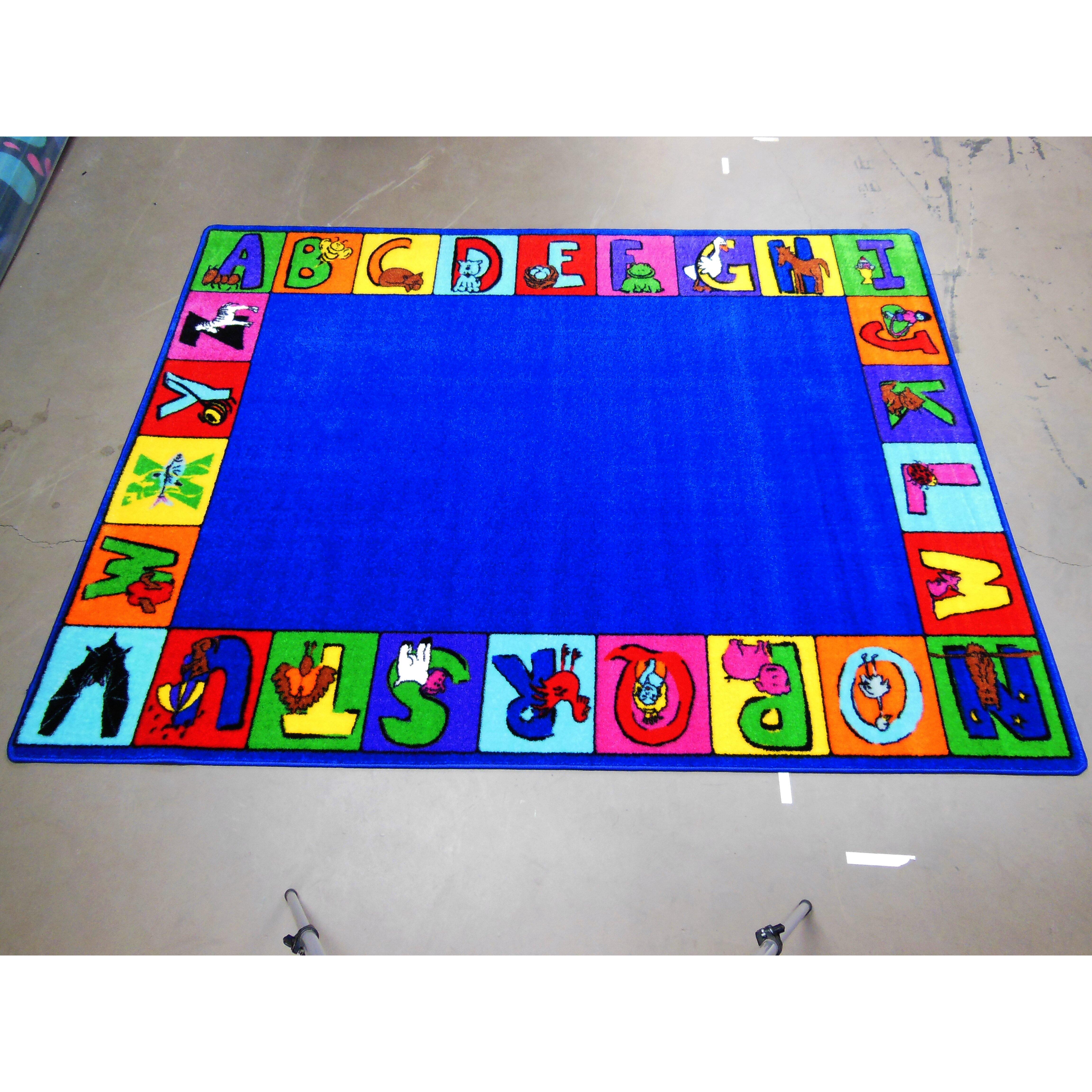 kids world carpets my abc squares area rug