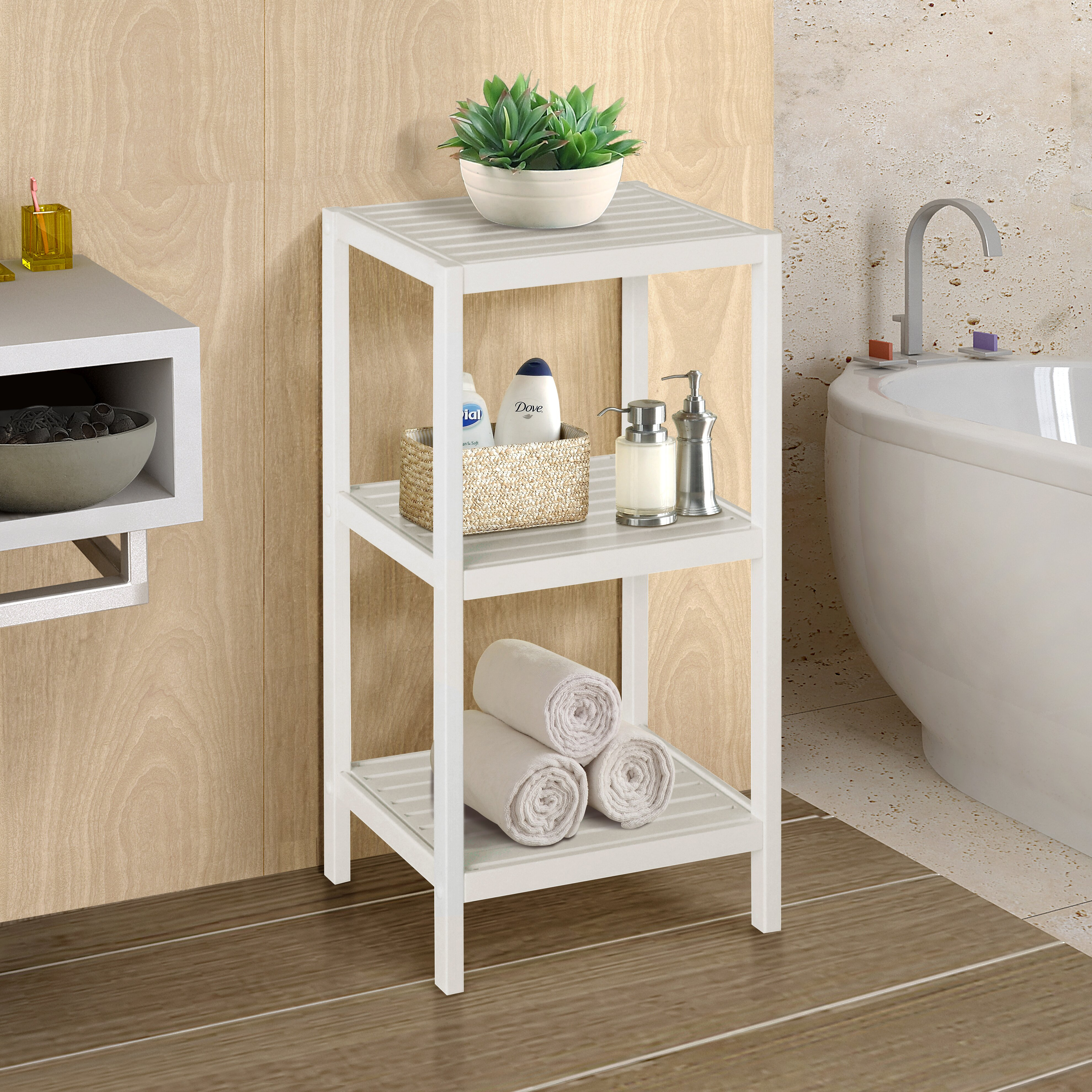 Bathroom Shelf Gallerie Decor Spa 145 W X 285 H Bathroom Shelf Reviews