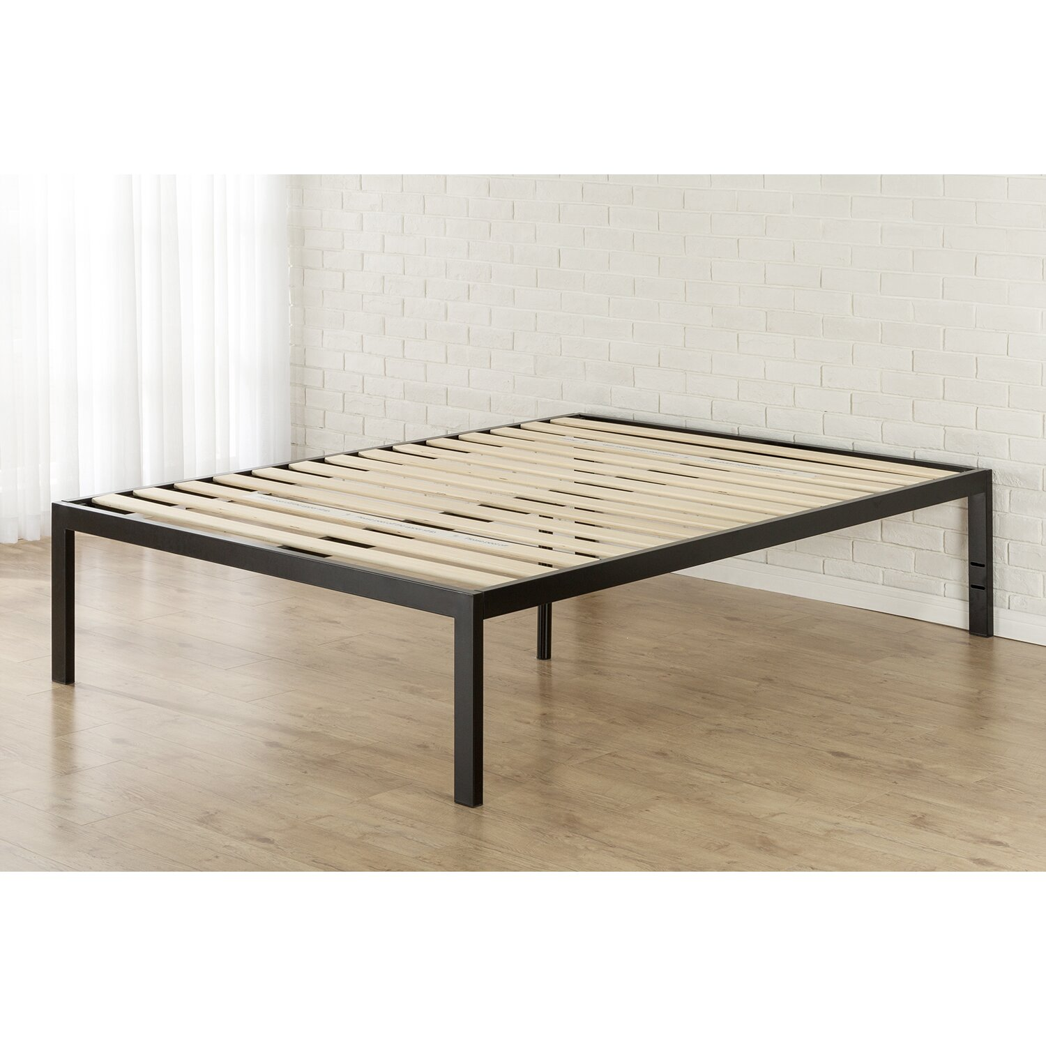 Quick Snap 18 Platform Bed Black Metal Beds You ll Love Wayfair Zinus Brown  Fabric. Poster Zinus Grey Beds   cpgworkflow com