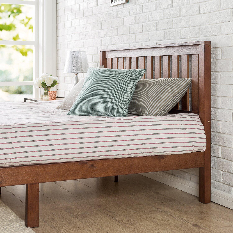winston porter dalila solid wood platform bed - Wooden Platform Bed