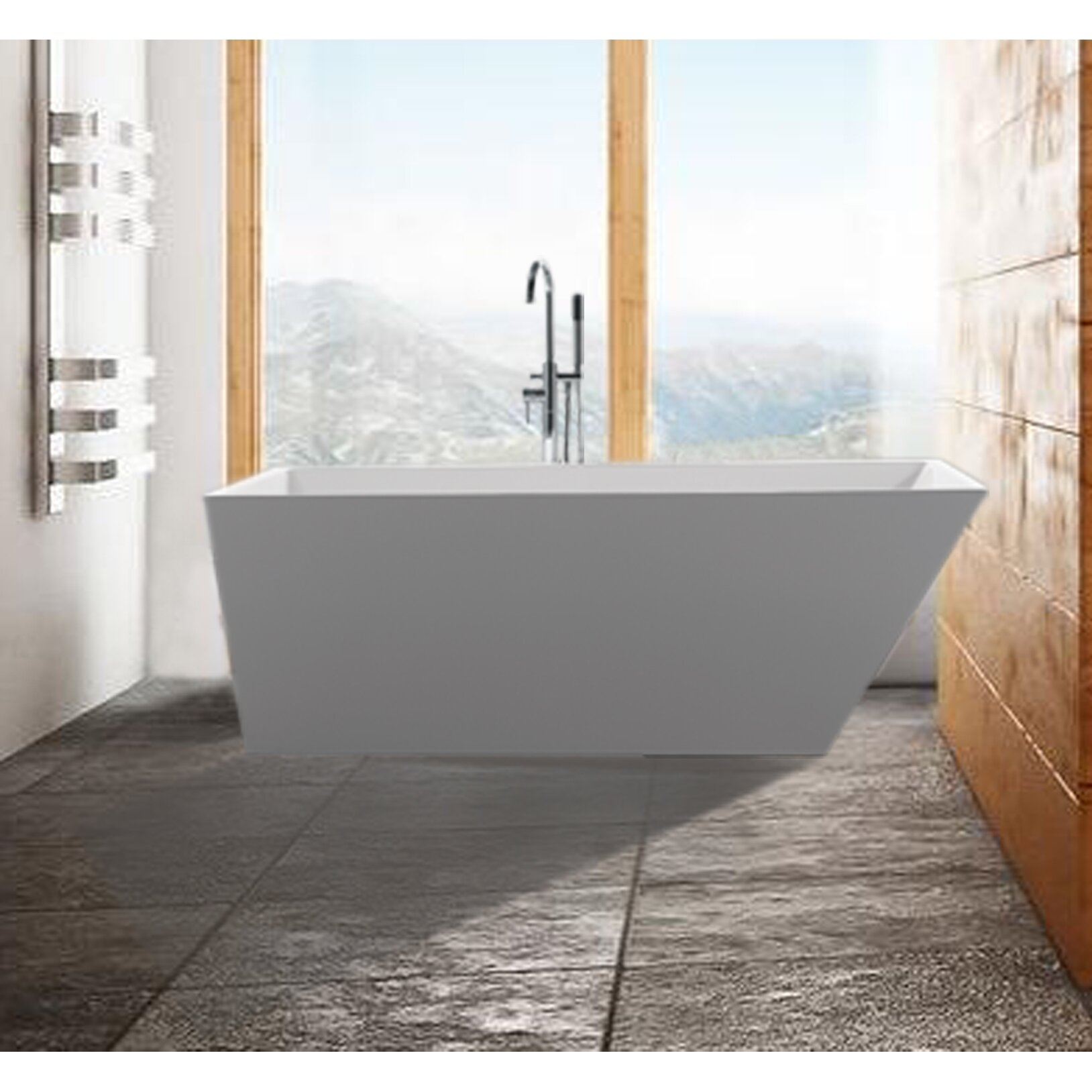 Malta Scarlet  X  Soaking Bathtub  Reviews Wayfair - Freestanding tub end drain