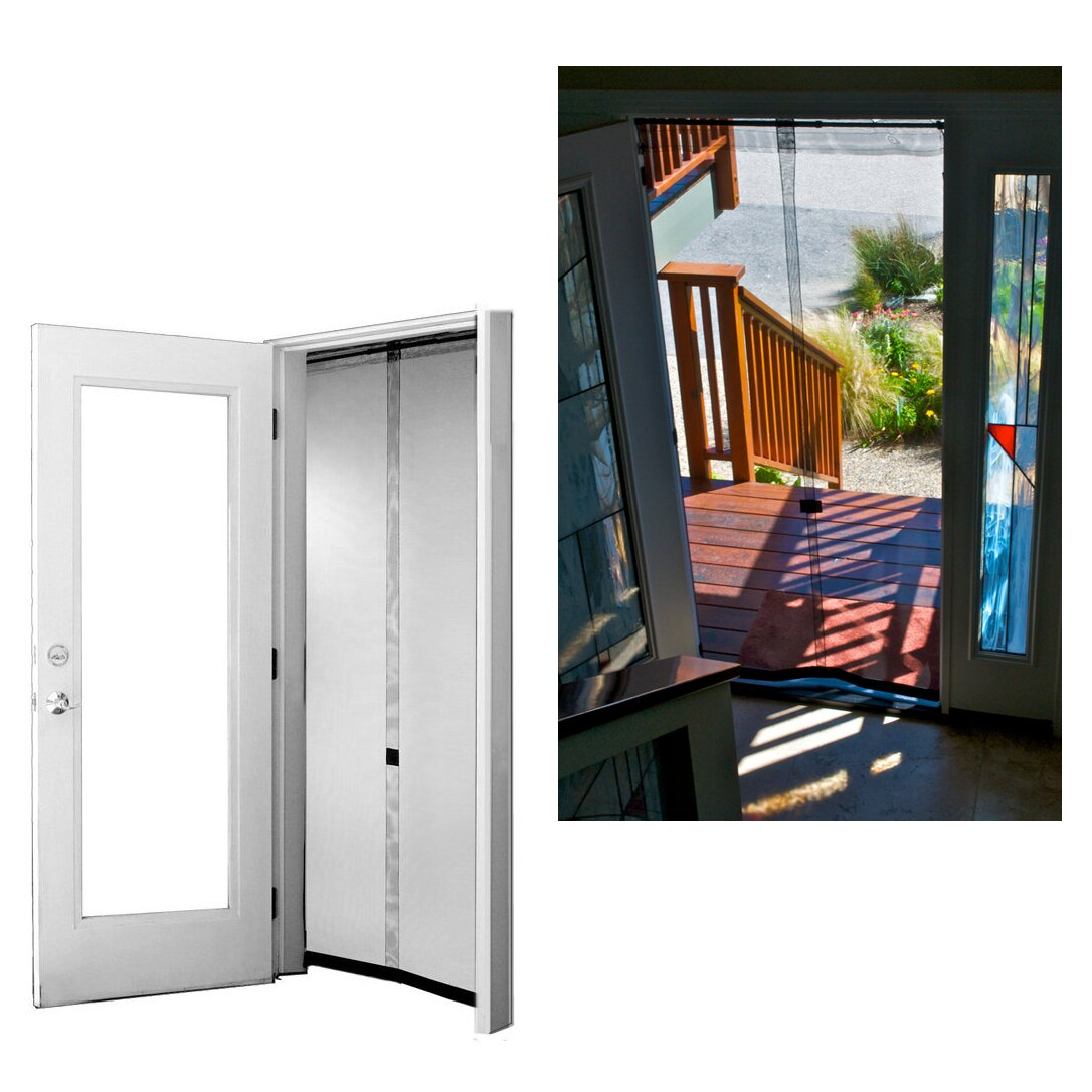 Bug off instant screen door reviews wayfair - 30 x 80 exterior door with pet door ...