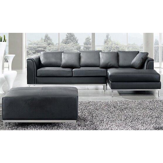 Oslo  Piece Leather Living Room Set By Beliani