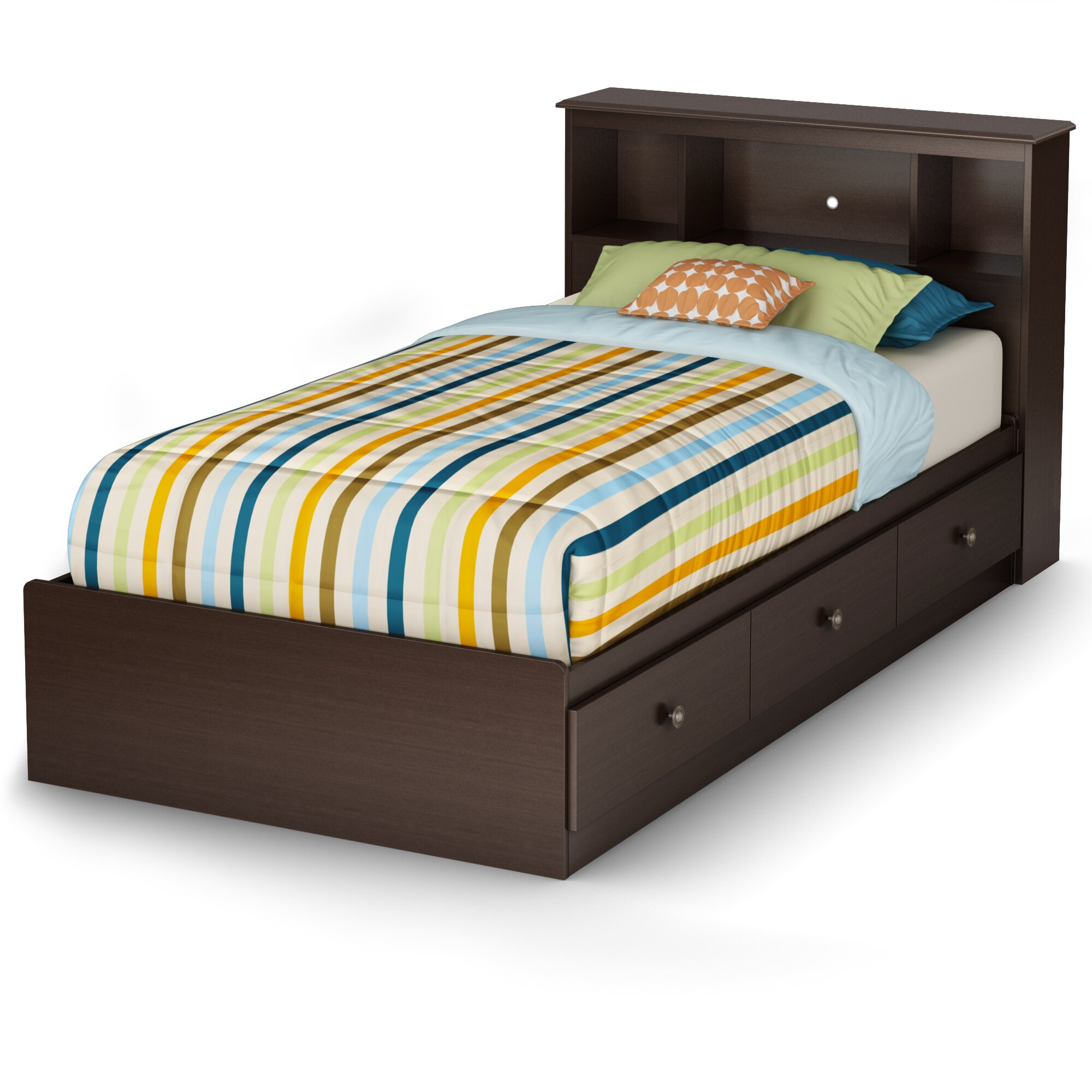 South Shore Bedroom Furniture South Shore Zach Twin Platform Customizable Bedroom Set Reviews