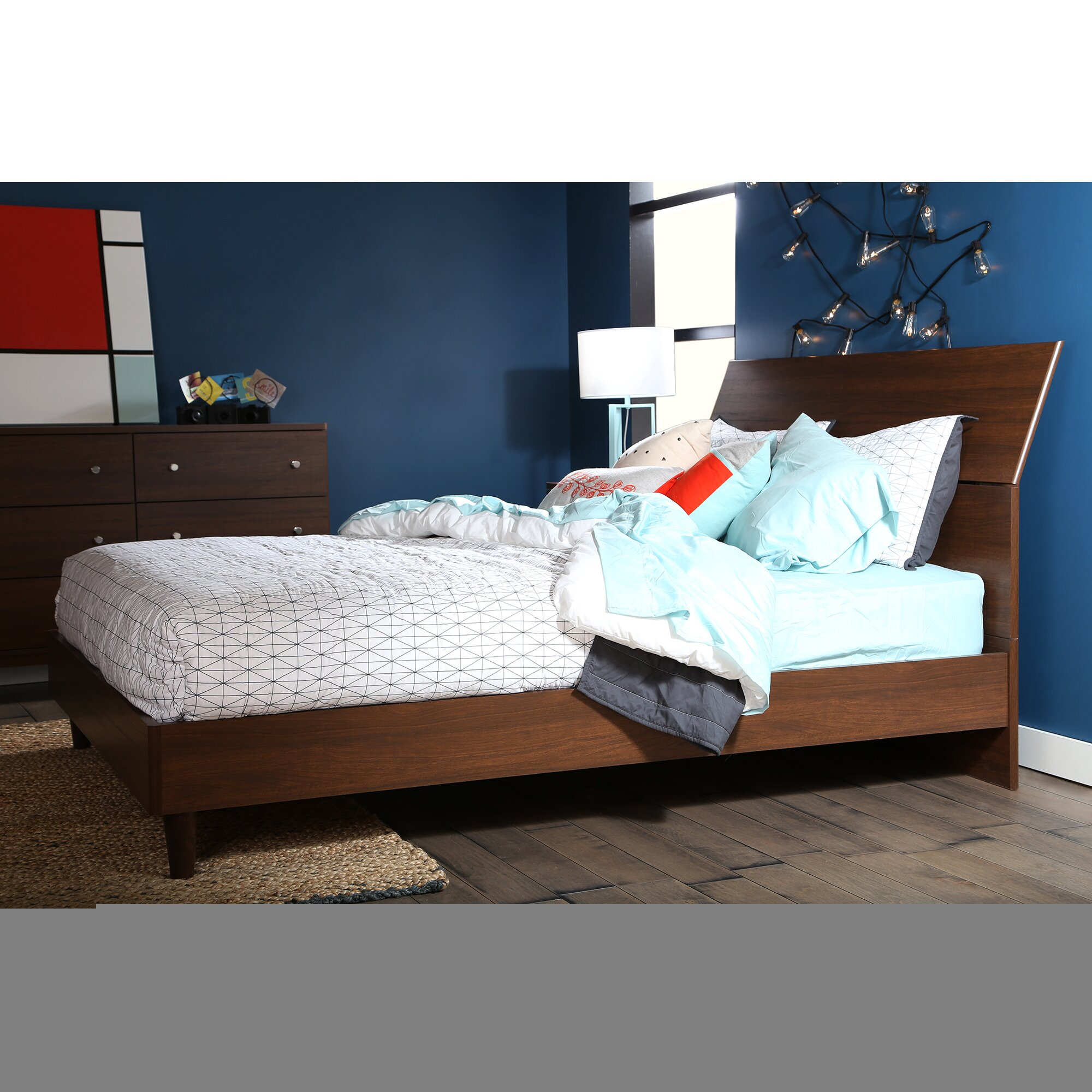 Mid Century Modern Bedroom Set South Shore Olly Queen Platform Customizable Bedroom Set Reviews