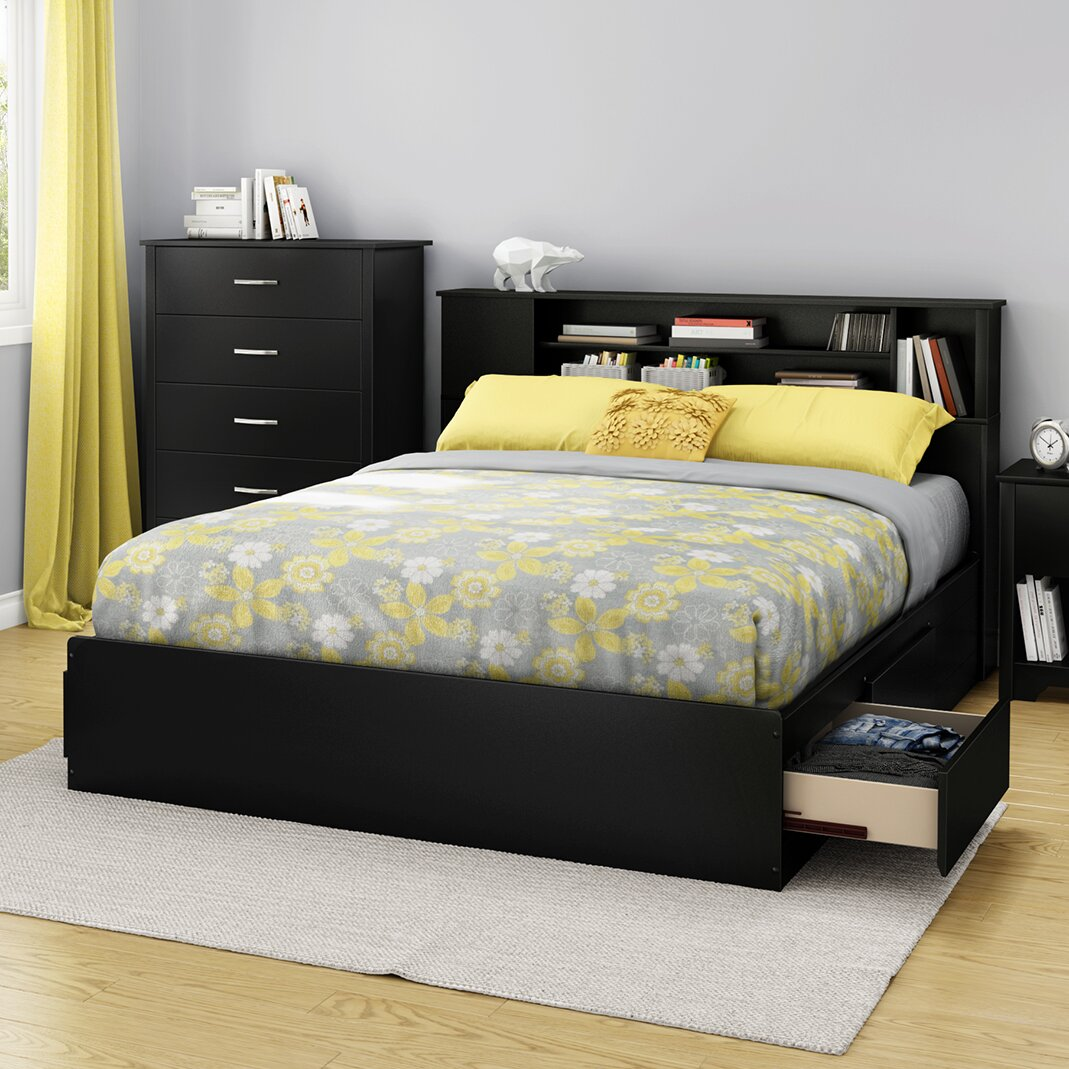 south shore fusion queen storage platform bed reviews. Black Bedroom Furniture Sets. Home Design Ideas