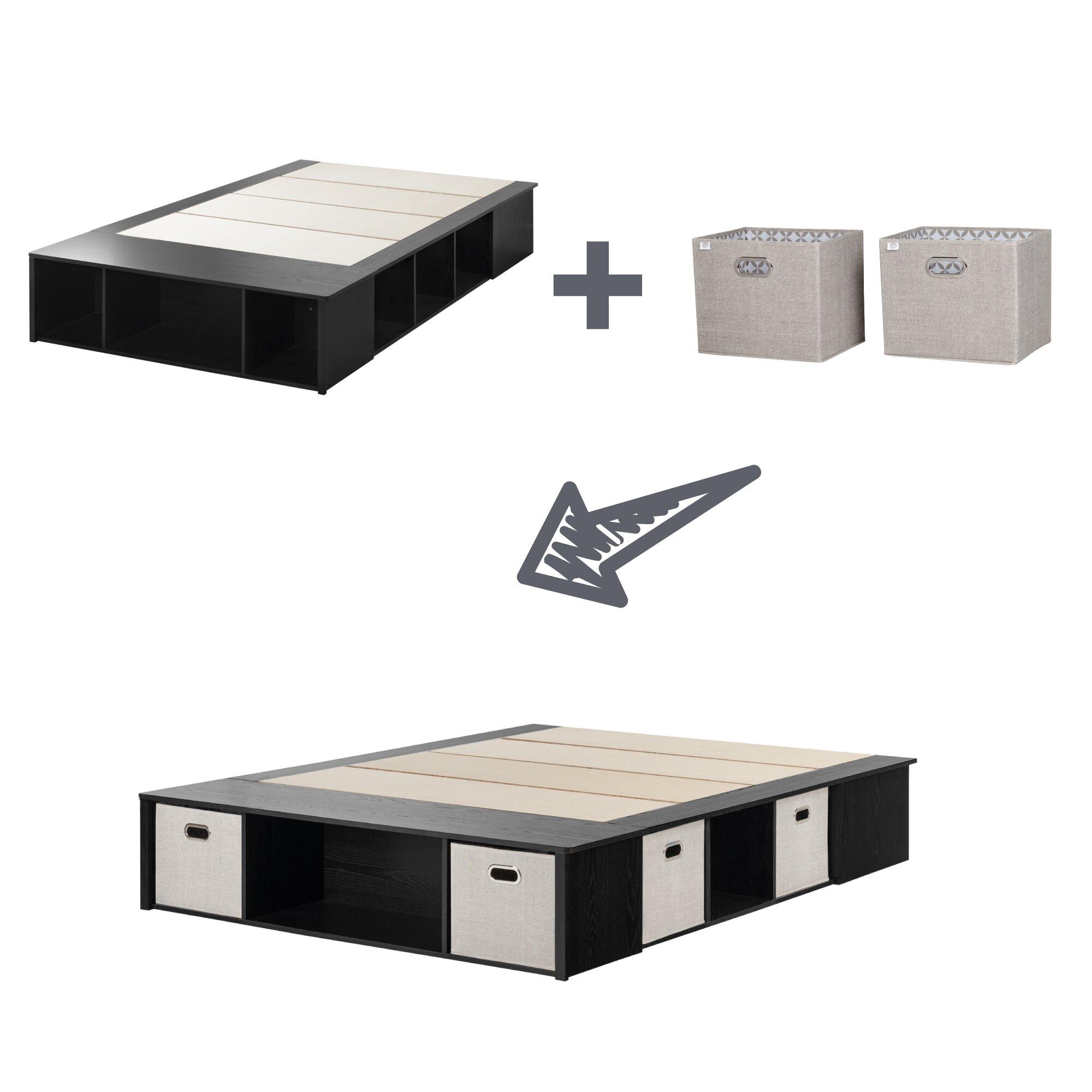 Stuff your stuff platform bed - South Shore Platform Bed