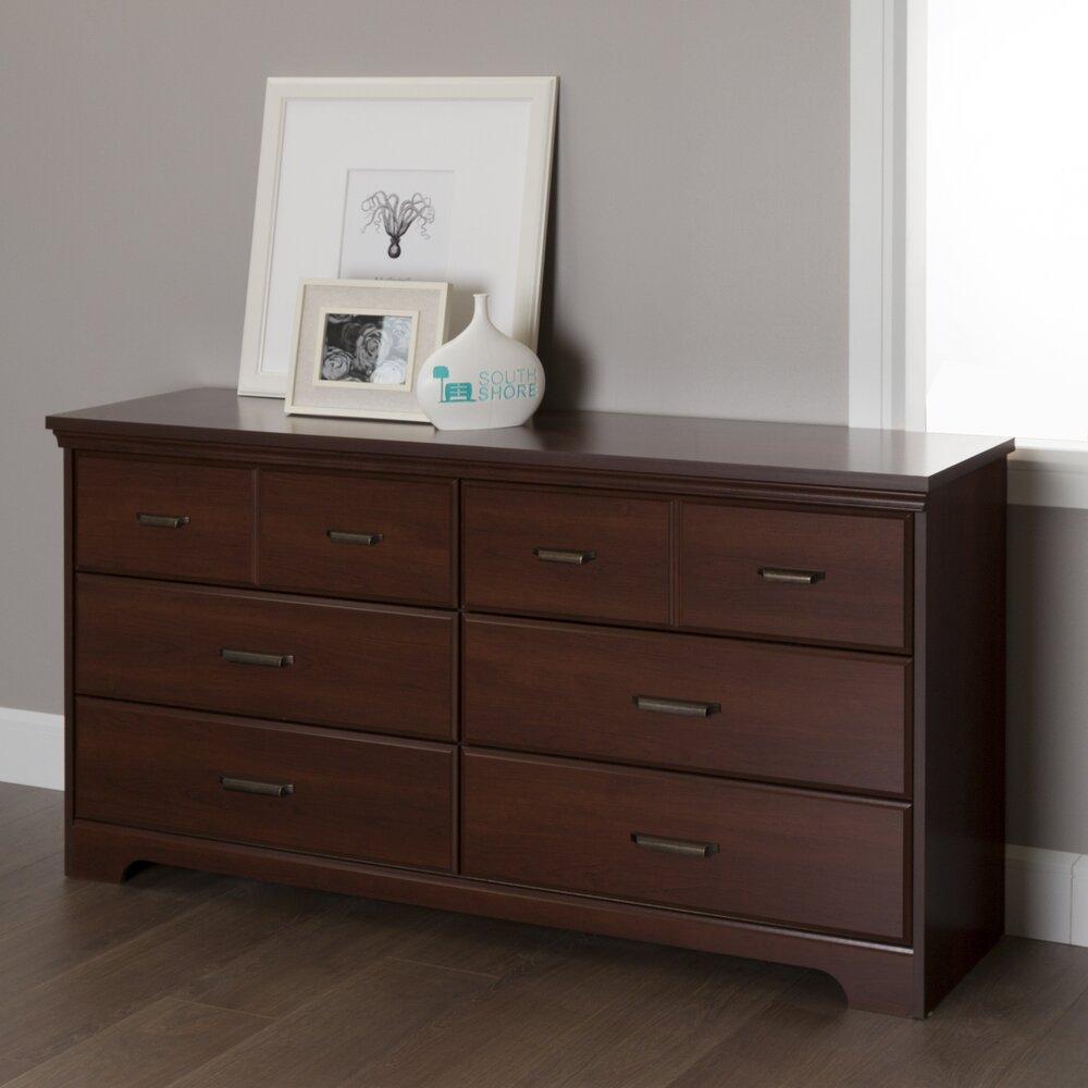 Dresser With Cabinet South Shore Versa 6 Drawer Double Dresser Reviews Wayfair