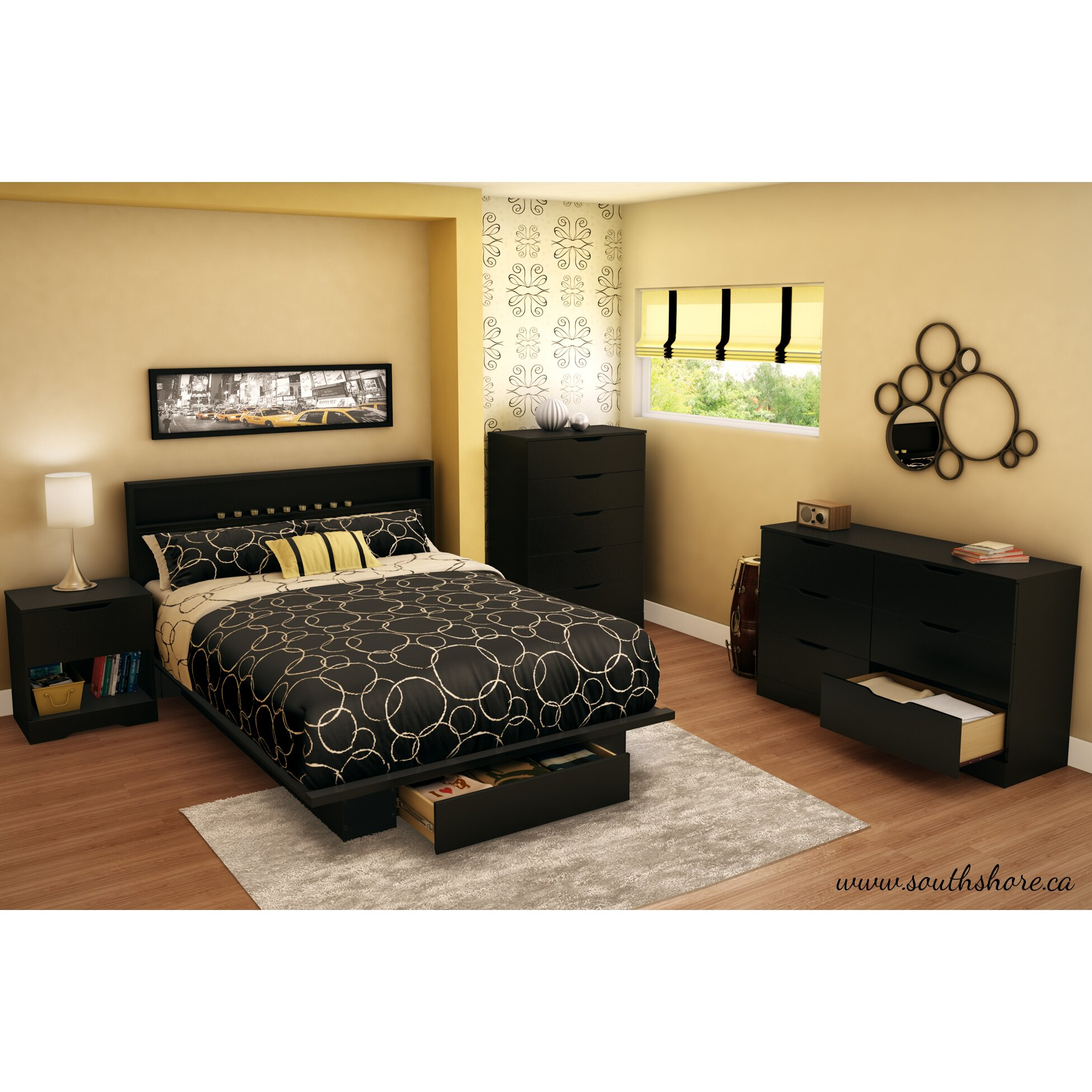 South Shore Bedroom Furniture South Shore Holland Platform Customizable Bedroom Set Reviews