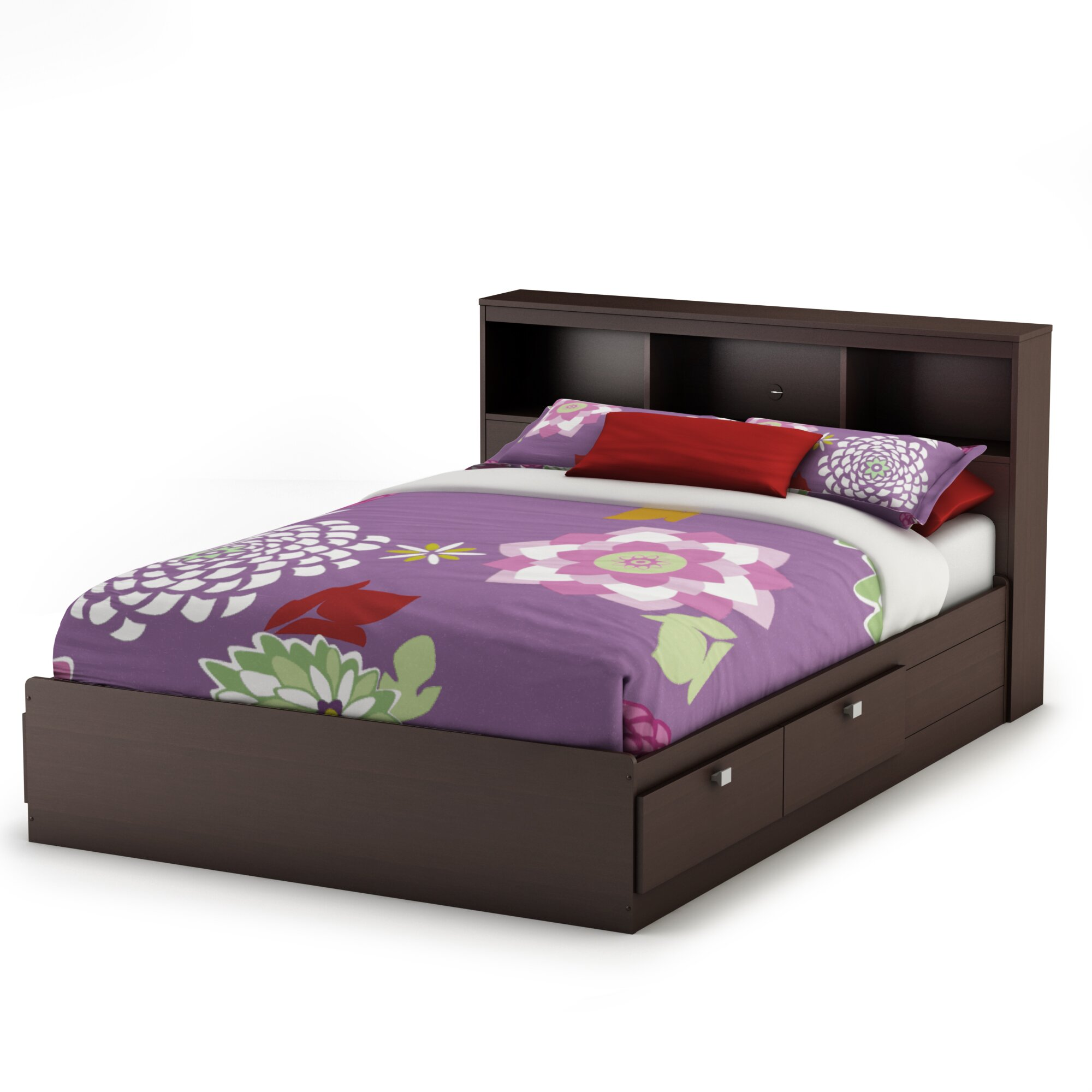 south shore karma mates bed with storage