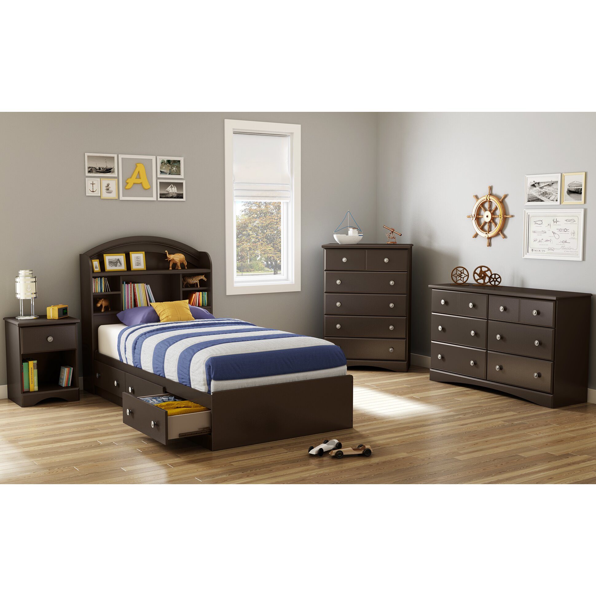 South Shore Bedroom Furniture South Shore Morning Dew Platform Customizable Bedroom Set