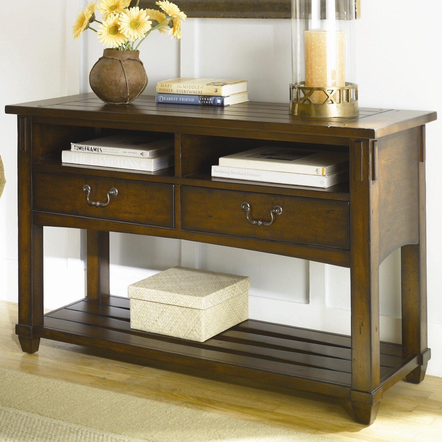 Hammary sofa table centerfieldbar hammary console sofa tables you ll love wayfair geotapseo Image collections