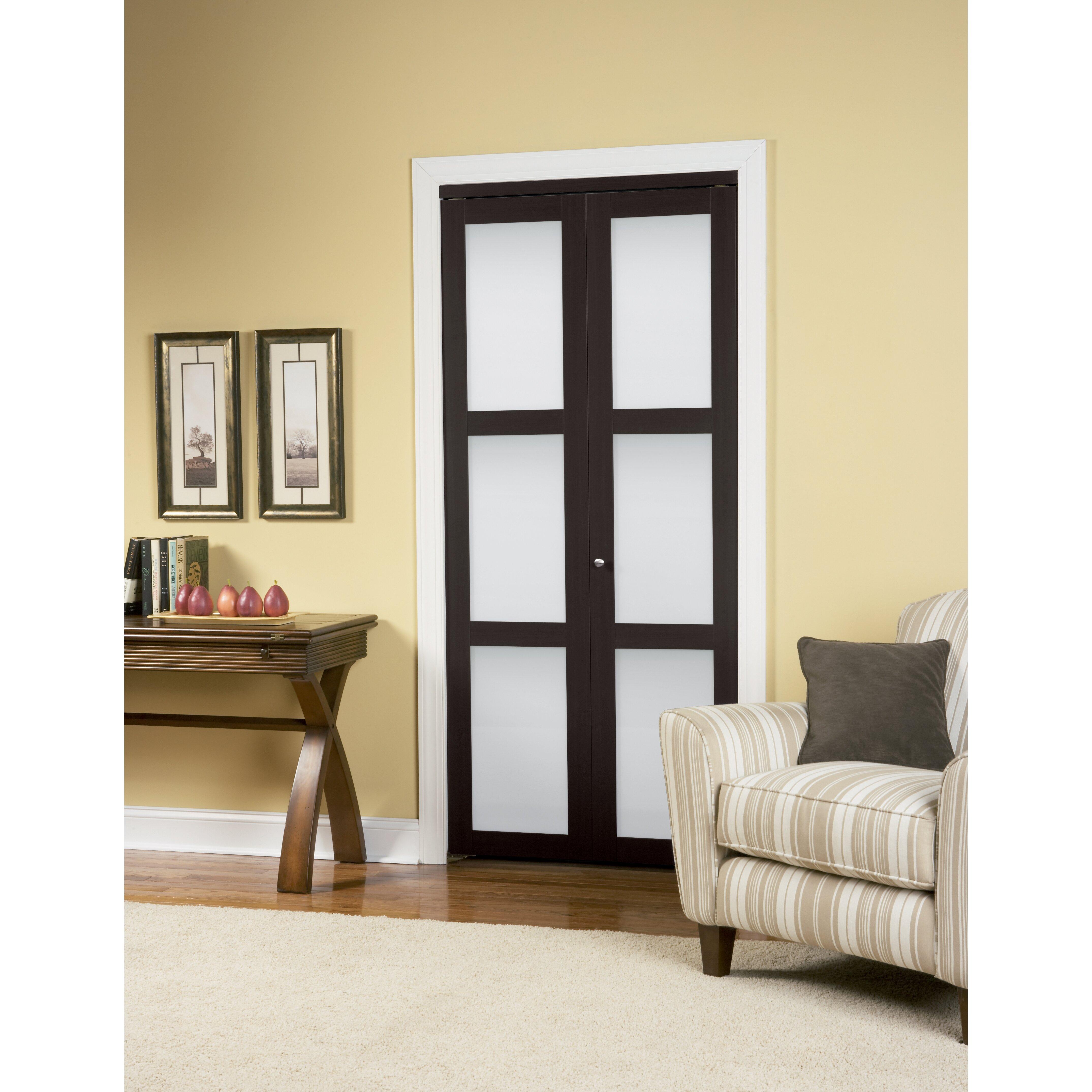 Erias home designs baldarassario wood 2 panel painted bi for Home decor interior doors