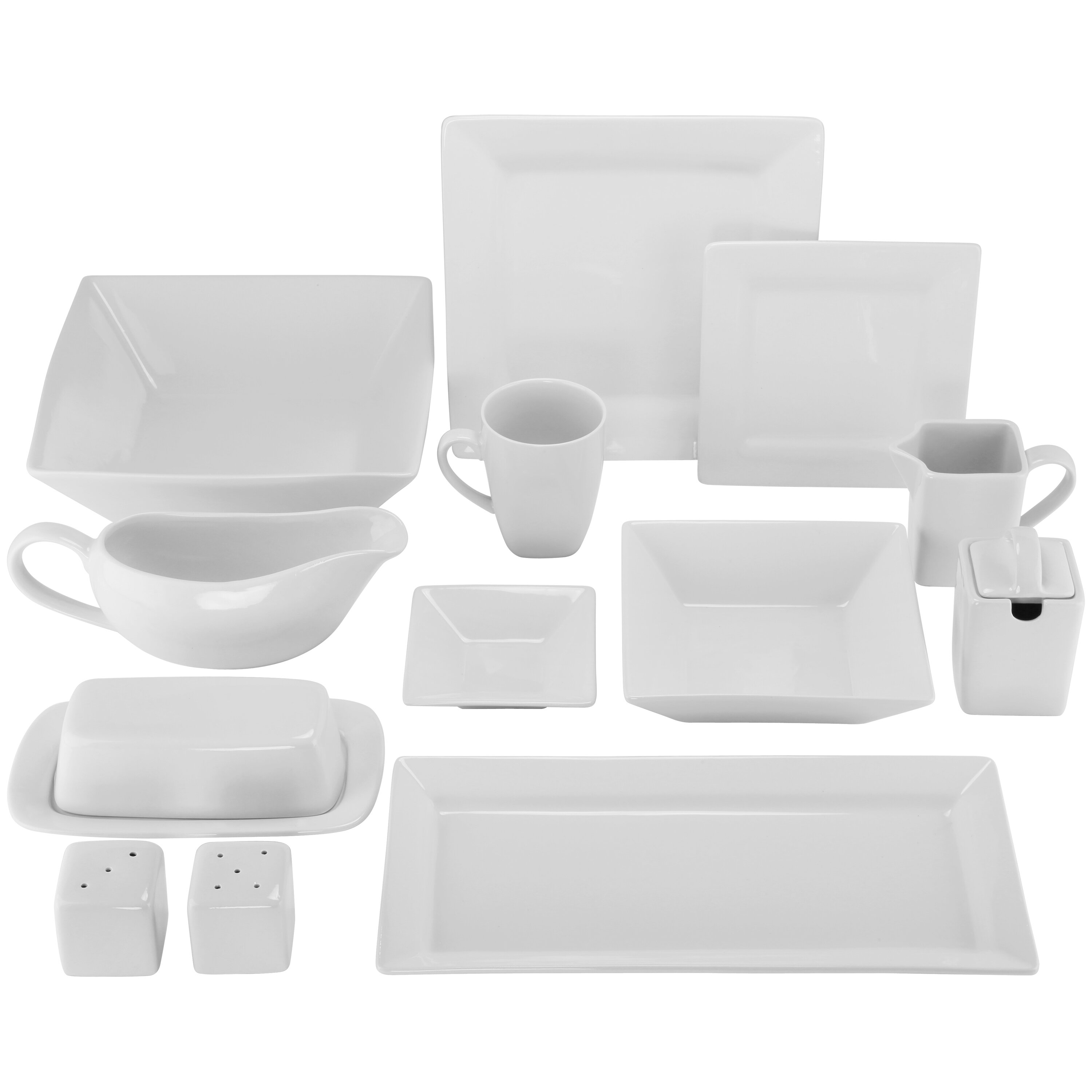 Hotel Collection Plates: Ten Strawberry Street 40 Piece Porcelain Dinnerware Set