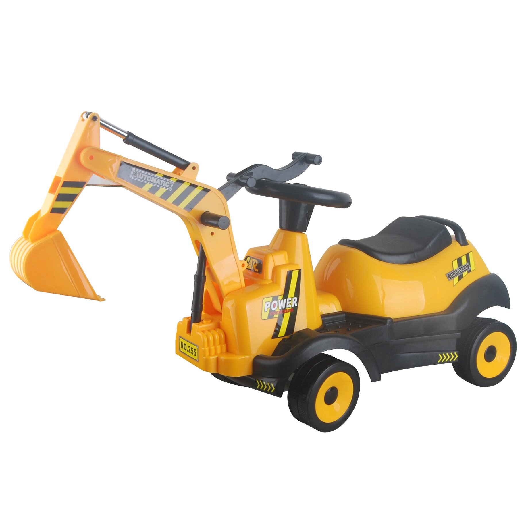Vroom Rider 6v Ride On 4 Wheel Excavator Battery Powered