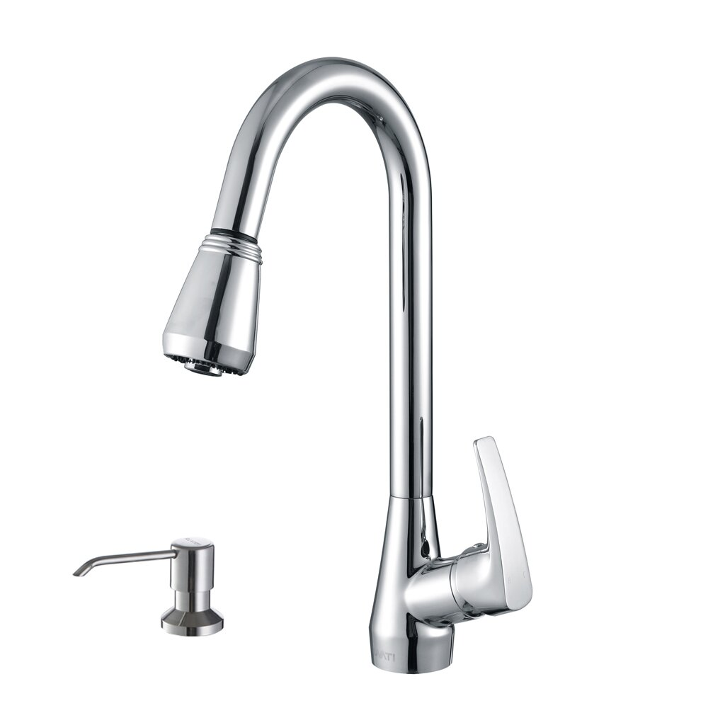 ruvati turino single handle kitchen faucet with pull out moen 7560bl extensa matte black pullout spray kitchen