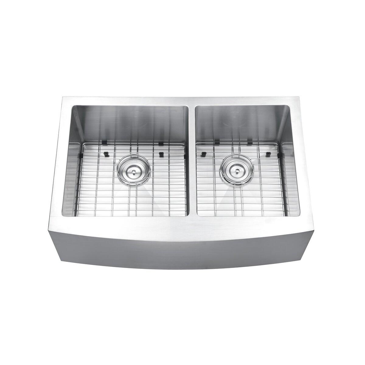 Apron Front Kitchen Sink Double Bowl : Ruvati Verona 33