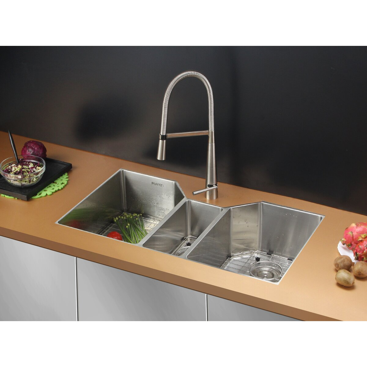 3 Bowl Kitchen Sink : Awesome Kitchen Sink Accessory Tall Kitchen Sink Vanity Regular ...