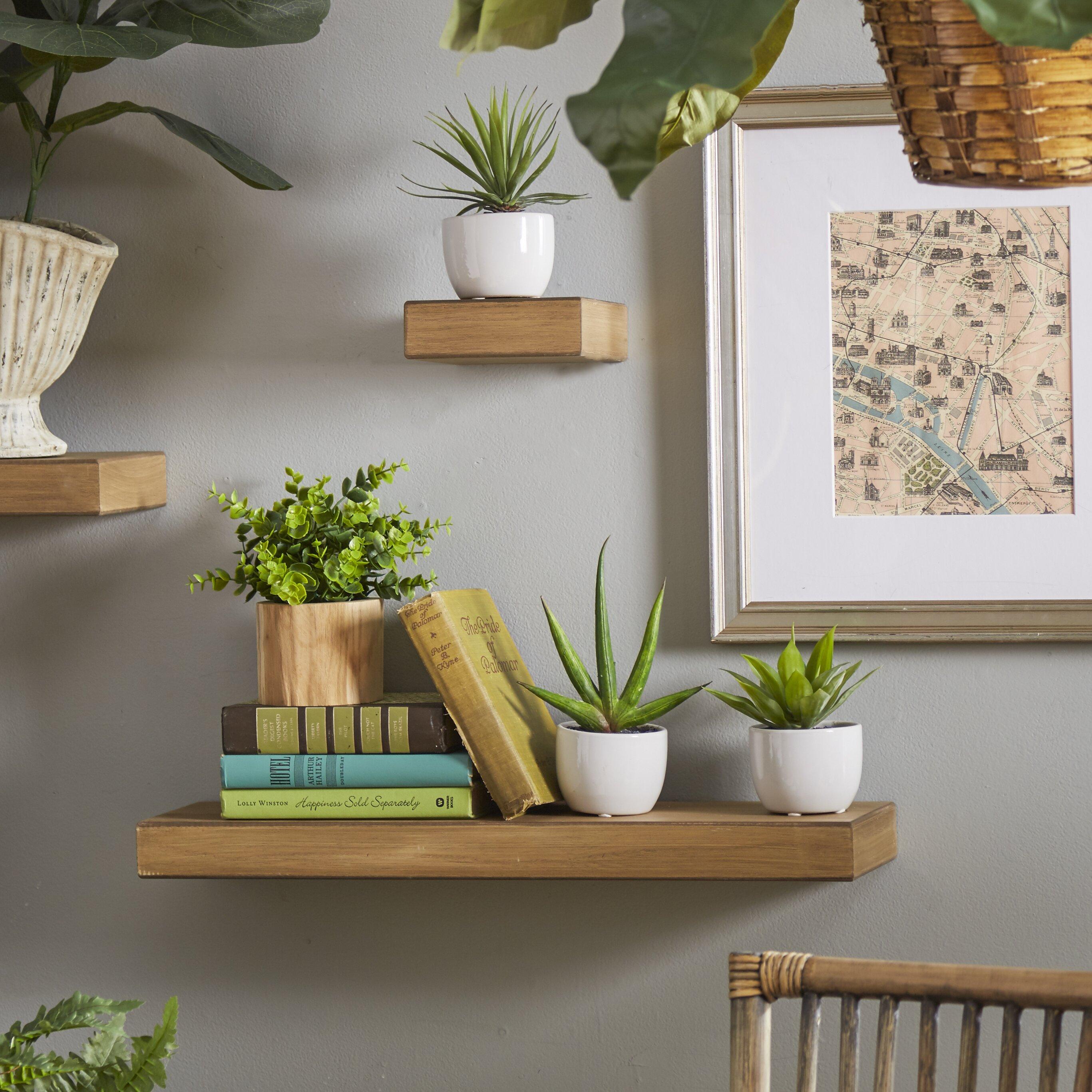 Wall Shelf For Living Room 4 Piece Lewis Wall Shelf Set Reviews Joss Main
