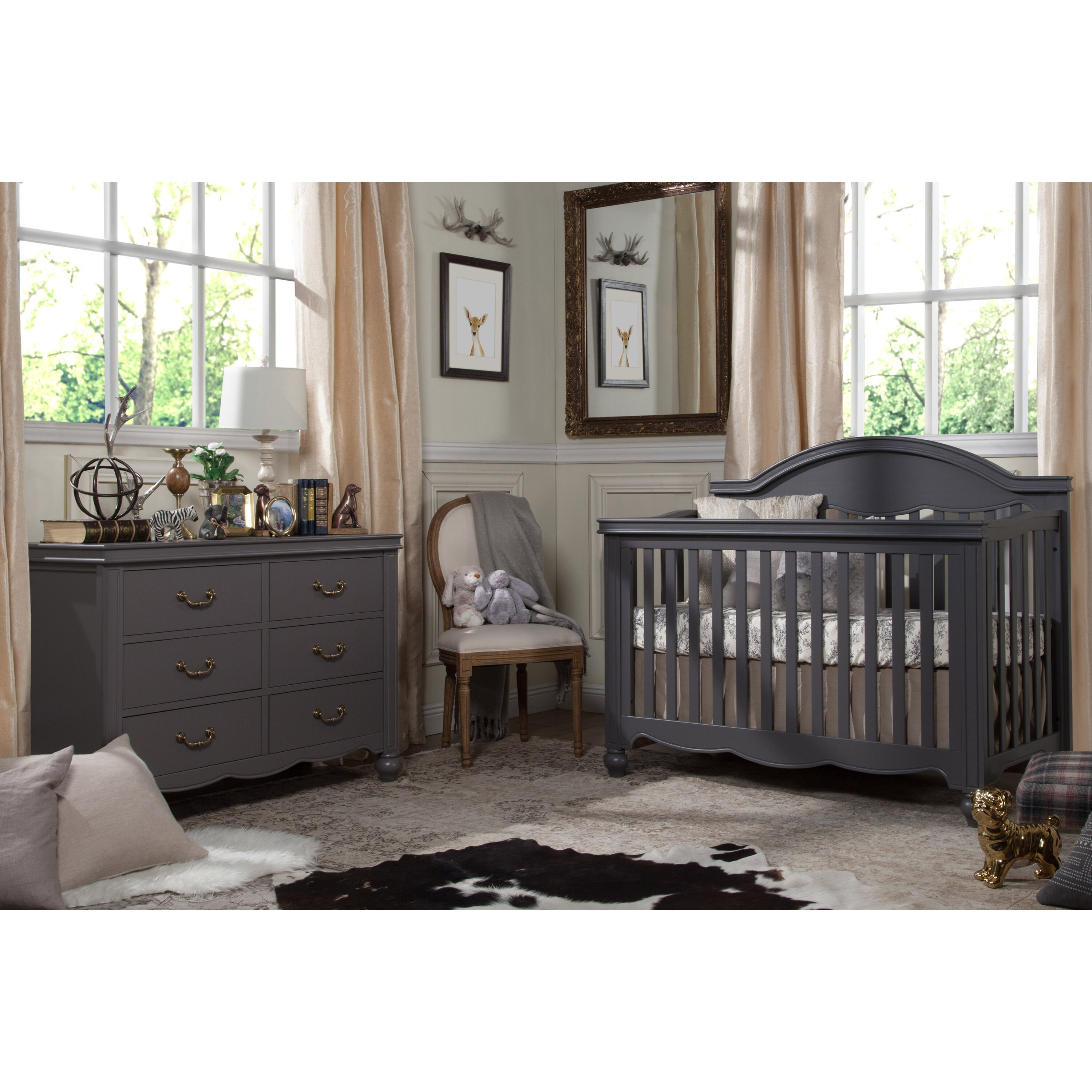 Emma iron crib for sale - Million Dollar Baby Classic Etienne 4 In 1 Convertible Crib