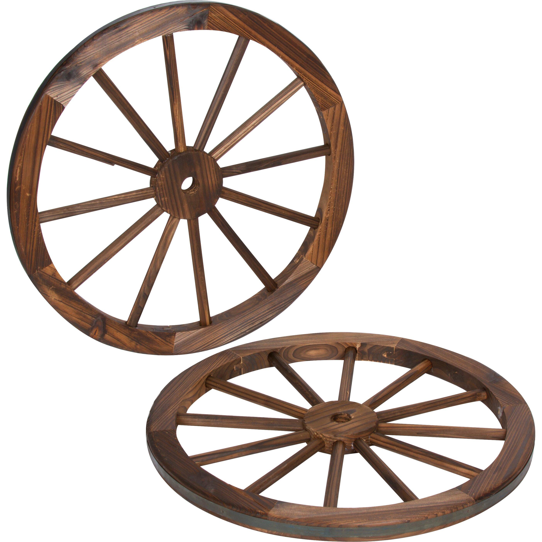 trademark innovations decorative vintage wood garden wagon wheel, Garden idea