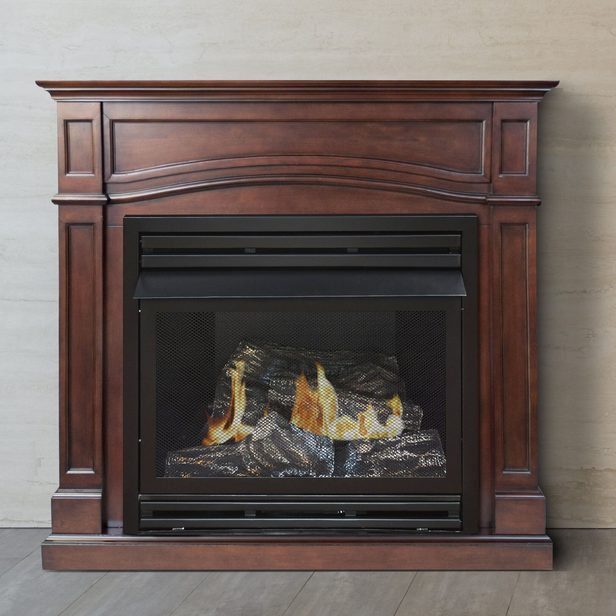 Best vent free gas logs - Pleasant Hearth Dual Fuel Vent Free Gas Fireplace