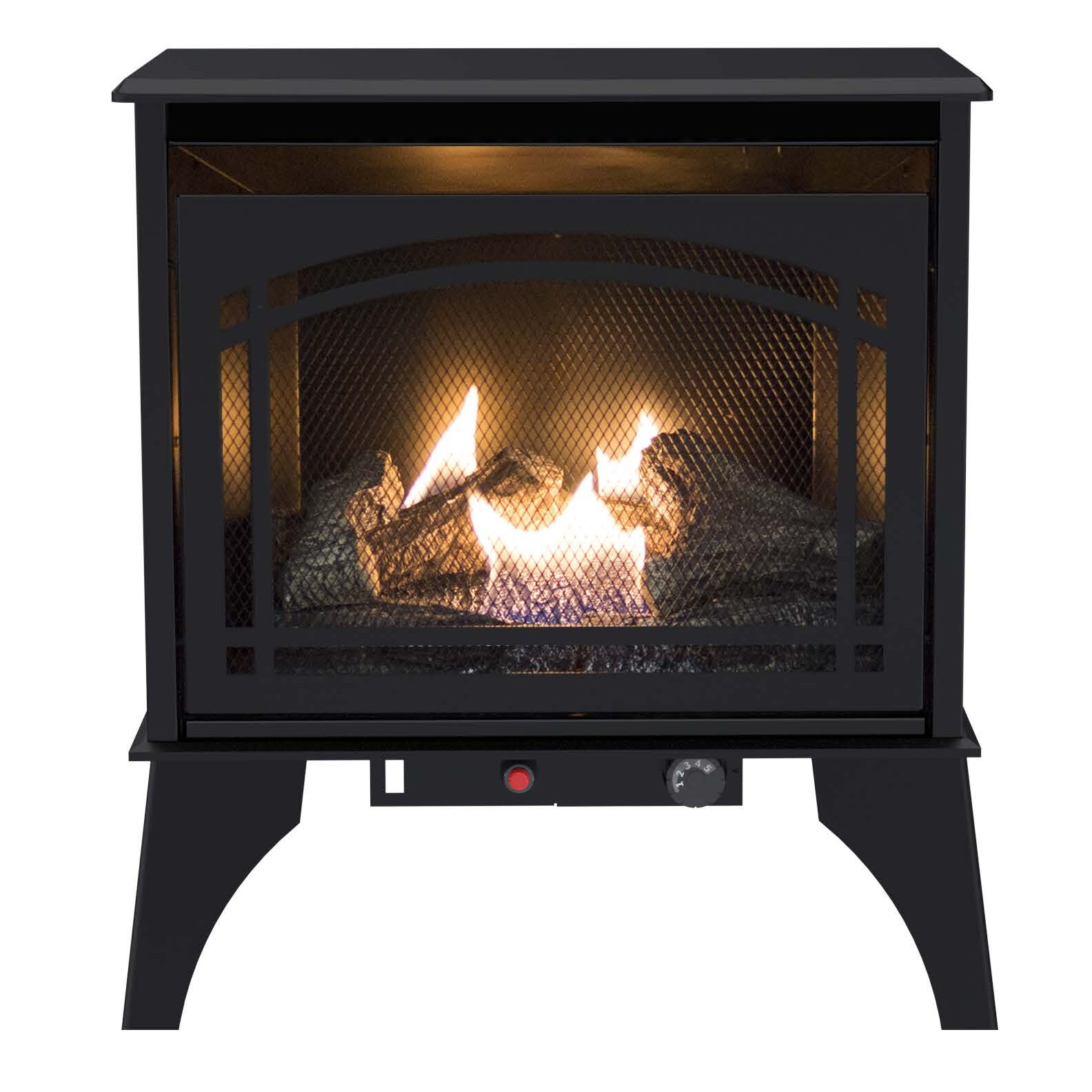 Pleasant Hearth Compact Vent-Free 700 Square Foot Gas Stove - Pleasant Hearth Compact Vent-Free 700 Square Foot Gas Stove