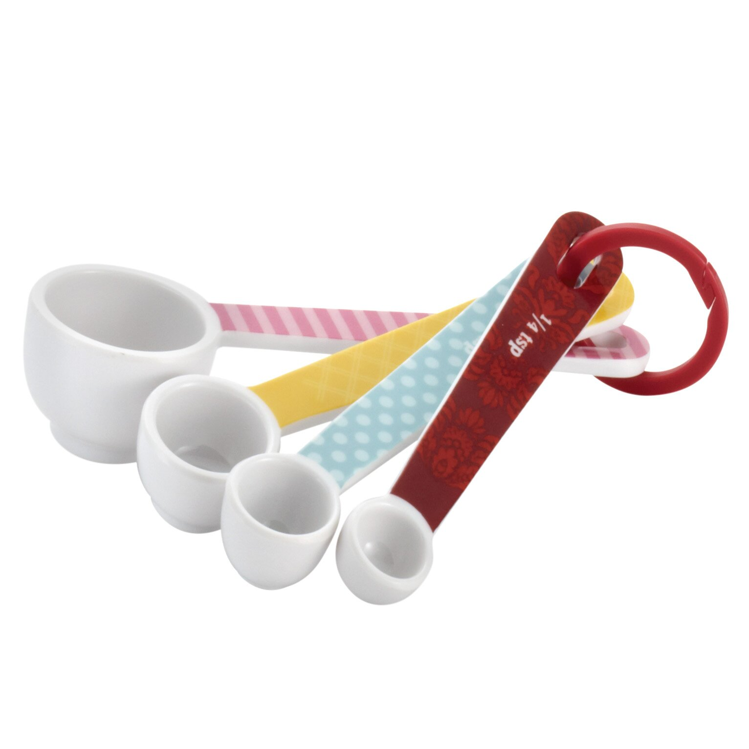 Decorative Measuring Spoons And Cups Cake Boss 4 Piece Countertop Accessories Melamine Measuring Spoon