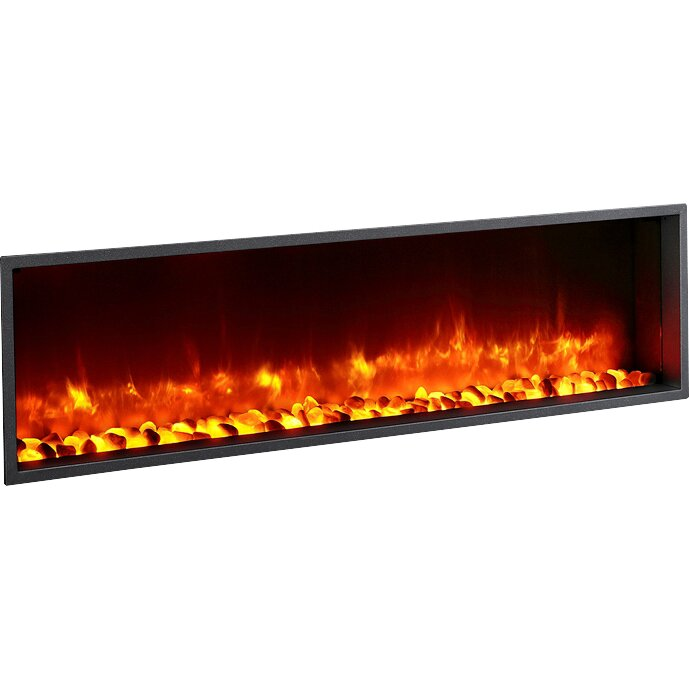 "Dynasty Fireplaces 55"" Built-in LED Wall Mount Electric Fireplace  Insert - 55"