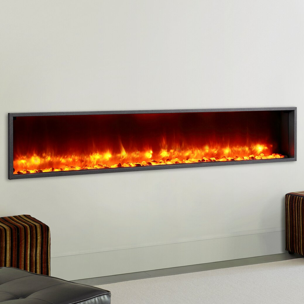 wall mount electric fireplace dynasty 79 quot built in led wall mount electric fireplace 12761
