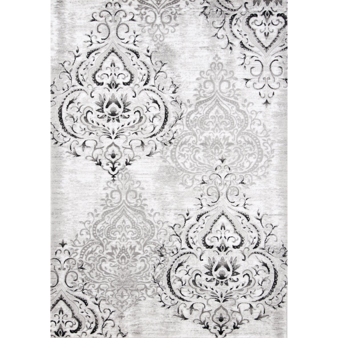 Kalora Platinum Venetian Grey White Area Rug Amp Reviews