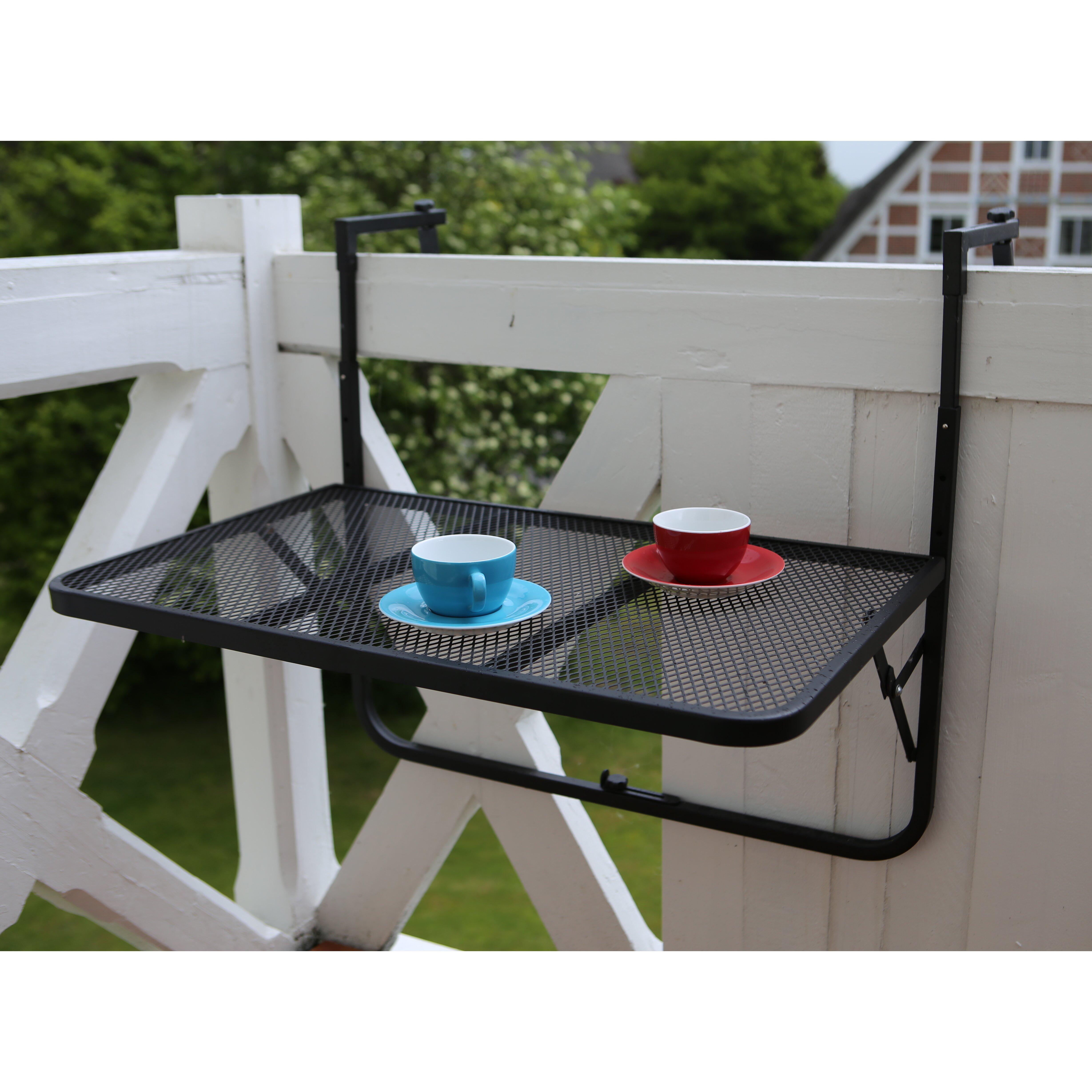 destiny klappbarer balkontisch genua bewertungen. Black Bedroom Furniture Sets. Home Design Ideas