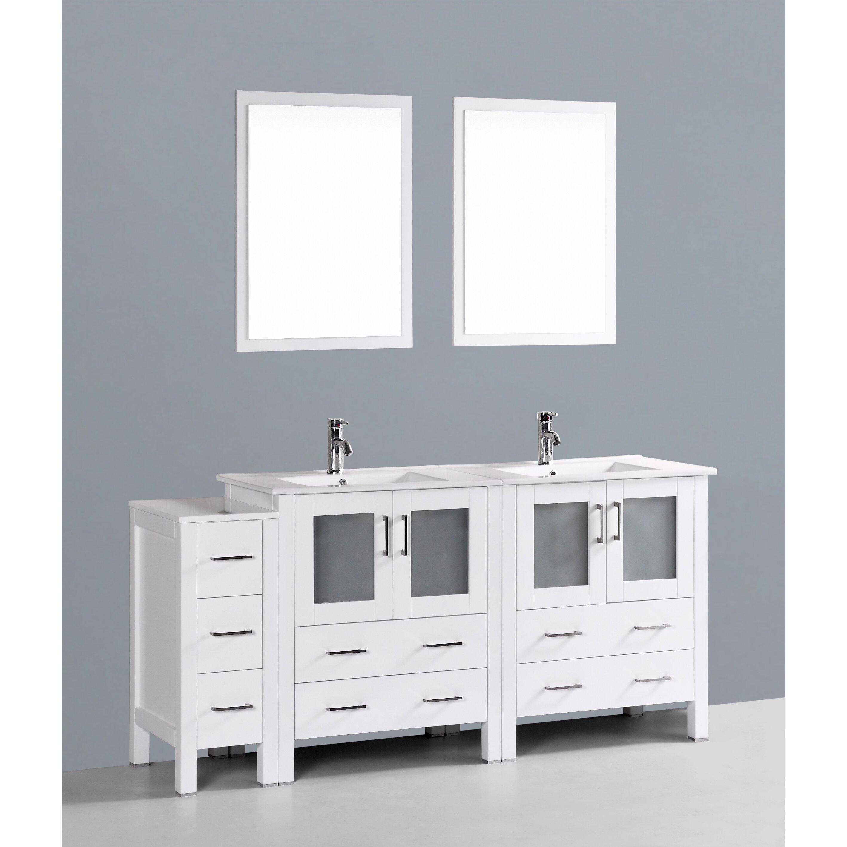 bosconi contemporary 72 double bathroom vanity set with