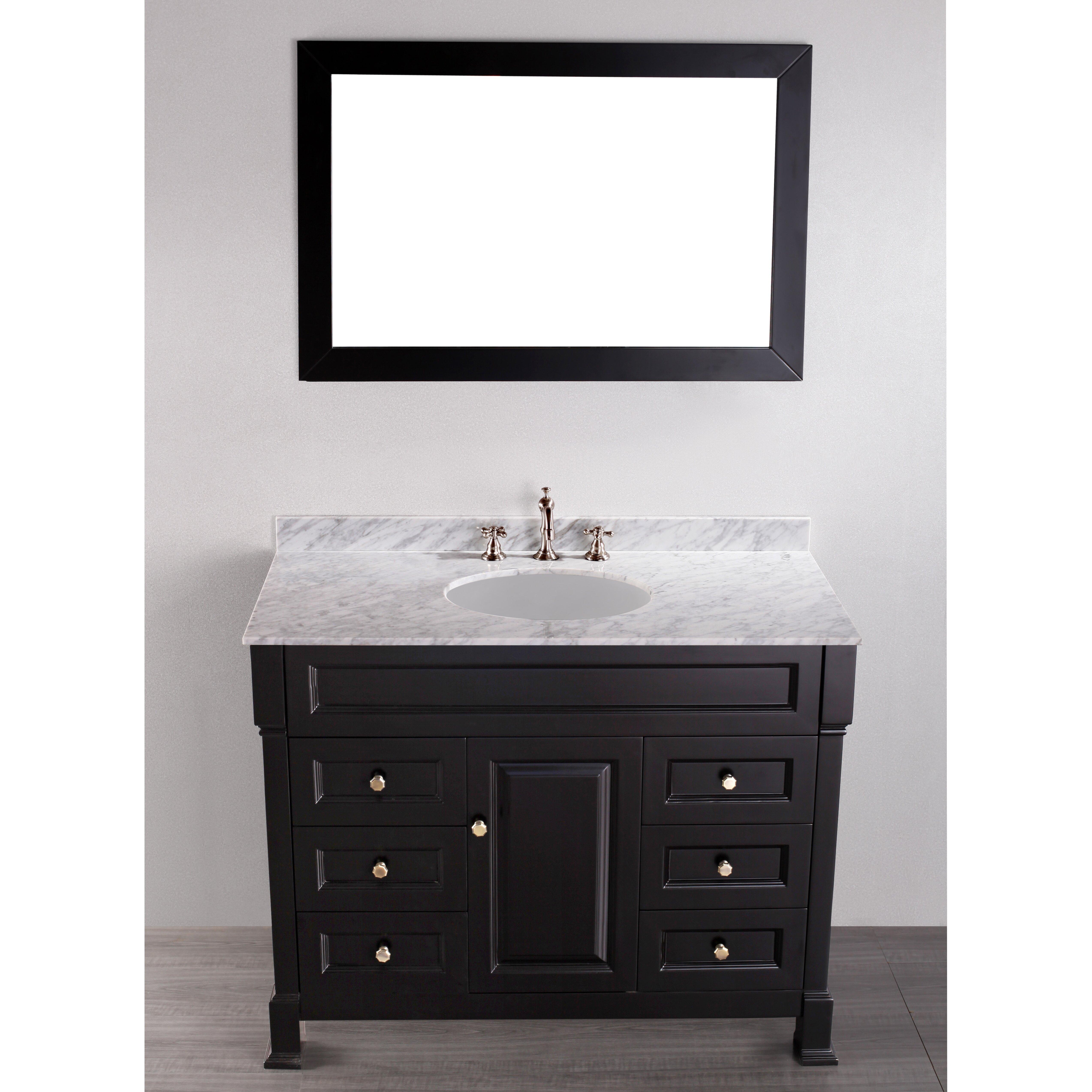 Bosconi Contemporary 43 Single Bathroom Vanity Set With Mirror Reviews Wayfair