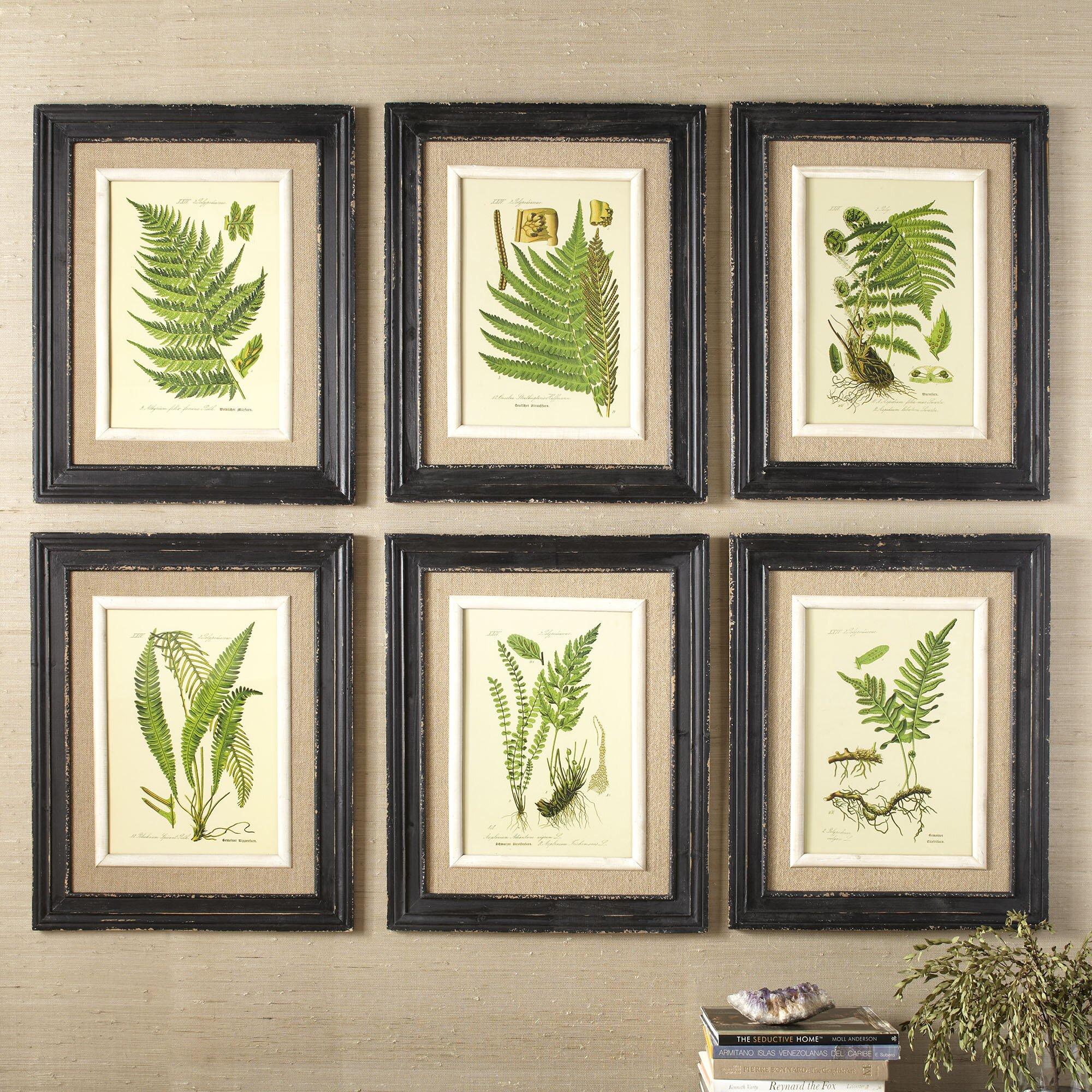 birch lane frond framed prints