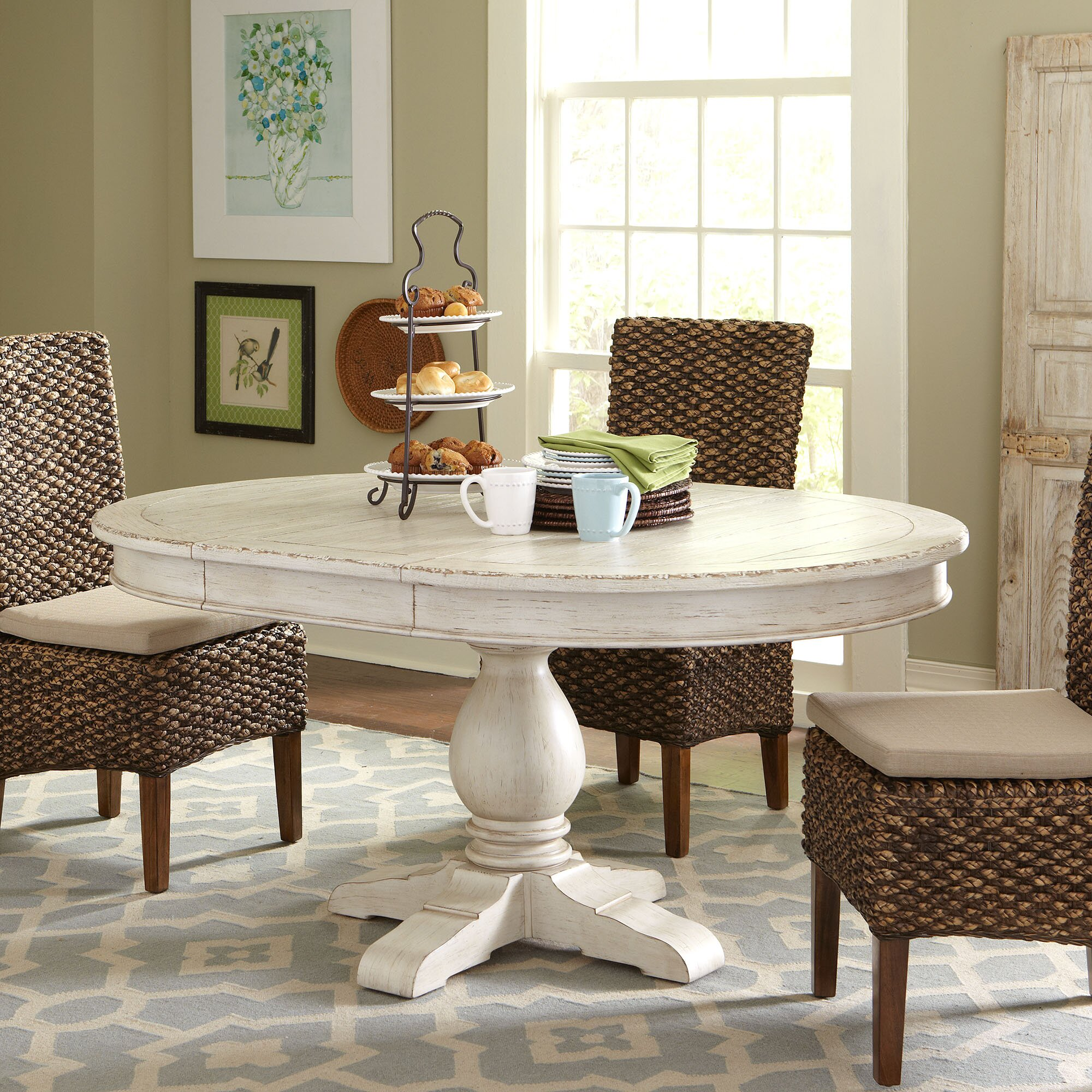 Extending Outdoor Dining Table Birch Lane Clearbrook Round Extending Dining Table Reviews