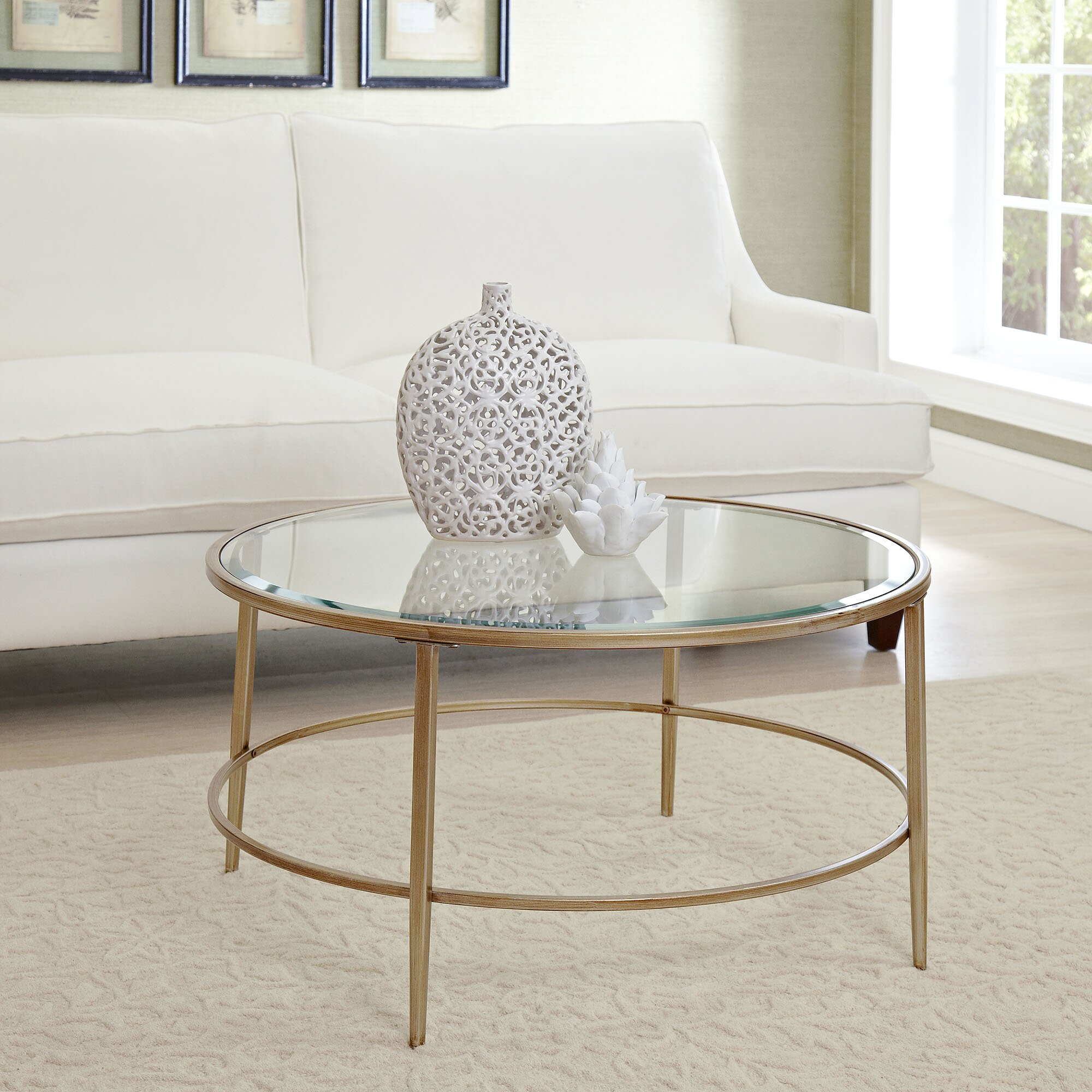 Round Glass Living Room Table