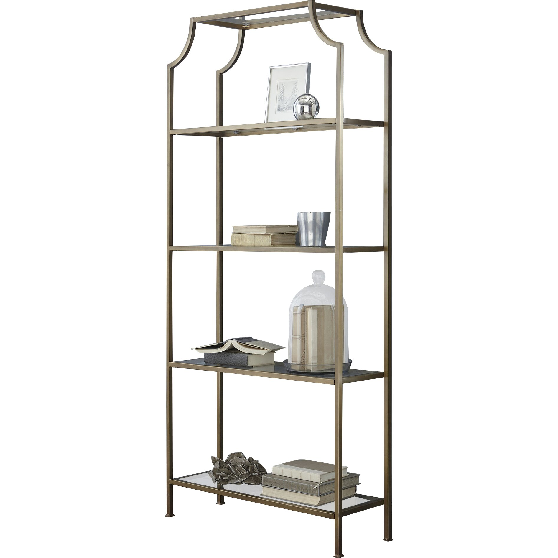 birch lane buchanan 80 etagere bookcase reviews birch. Black Bedroom Furniture Sets. Home Design Ideas