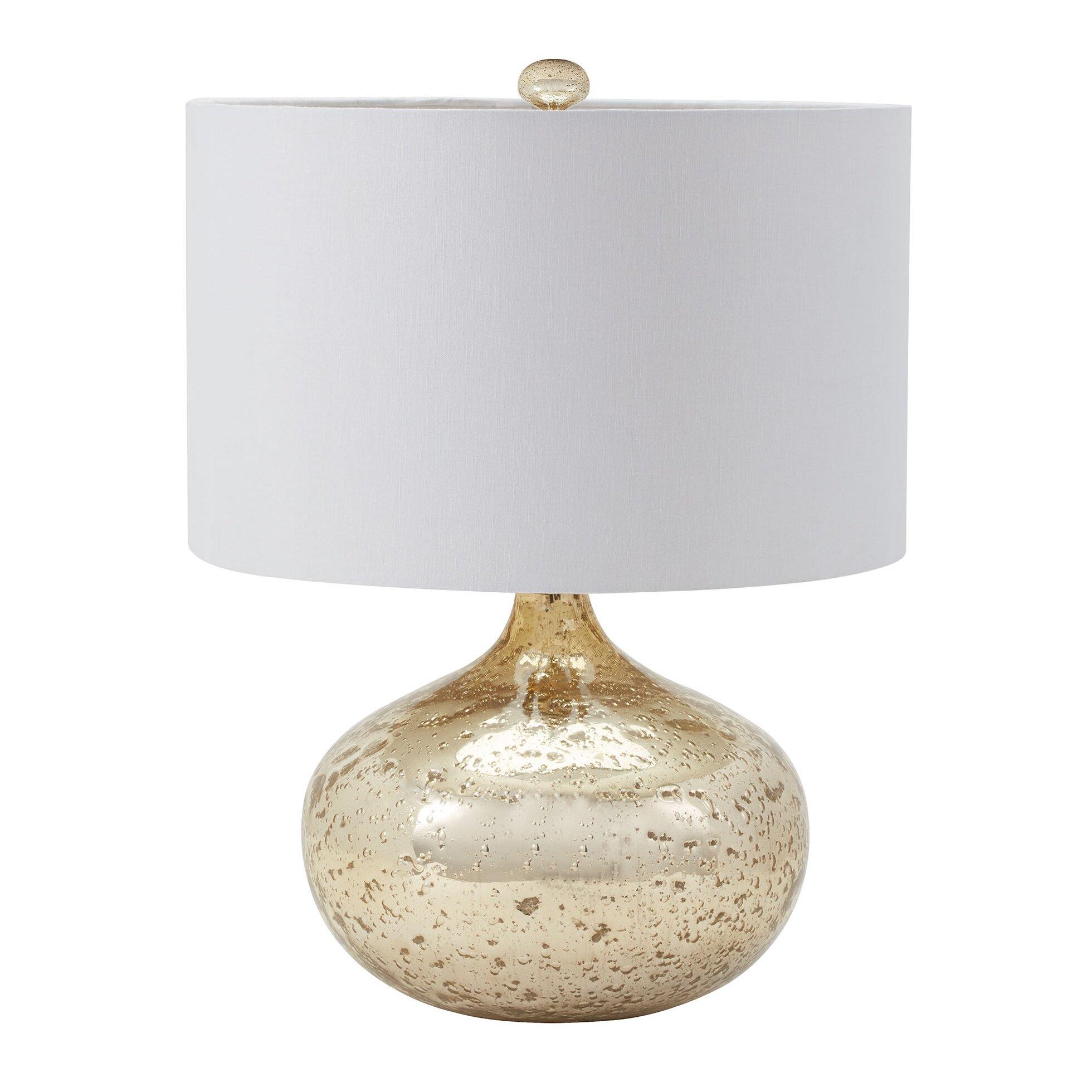 Mercury glass light fixtures - Birch Lane Mclean Mercury Glass Table Lamp
